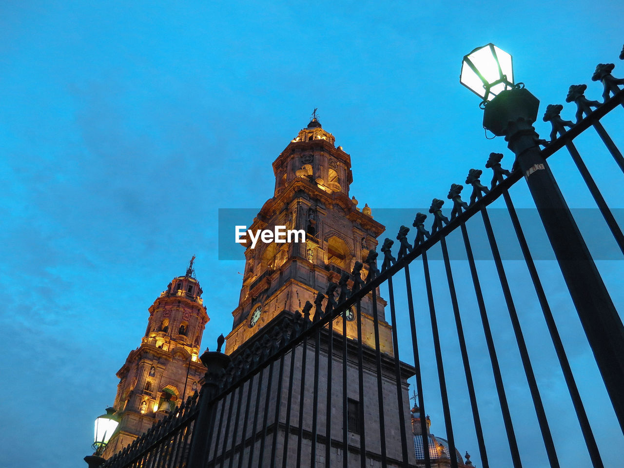 Low angle view of morelia cathedral against sky