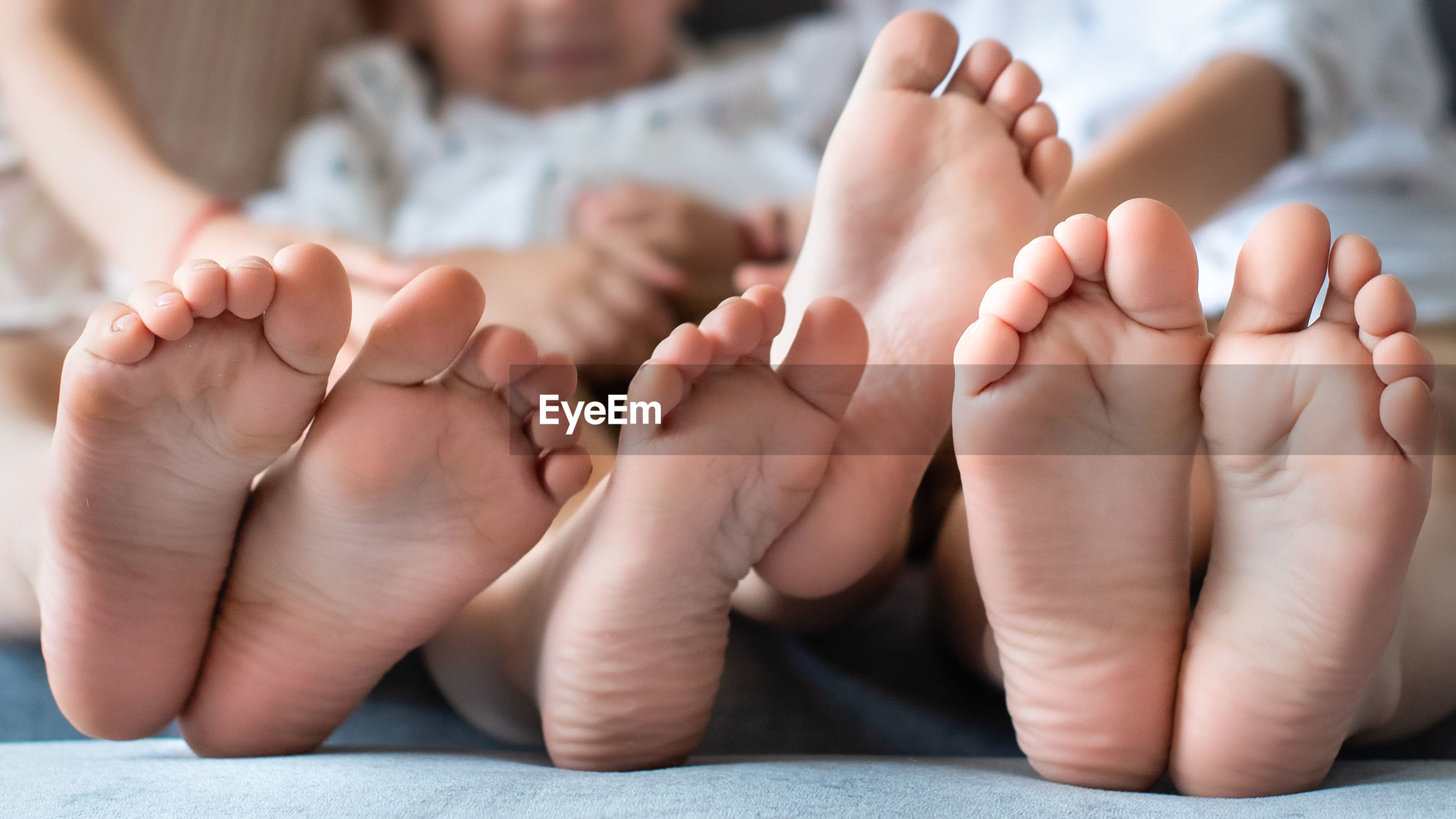 Close-up of baby feet