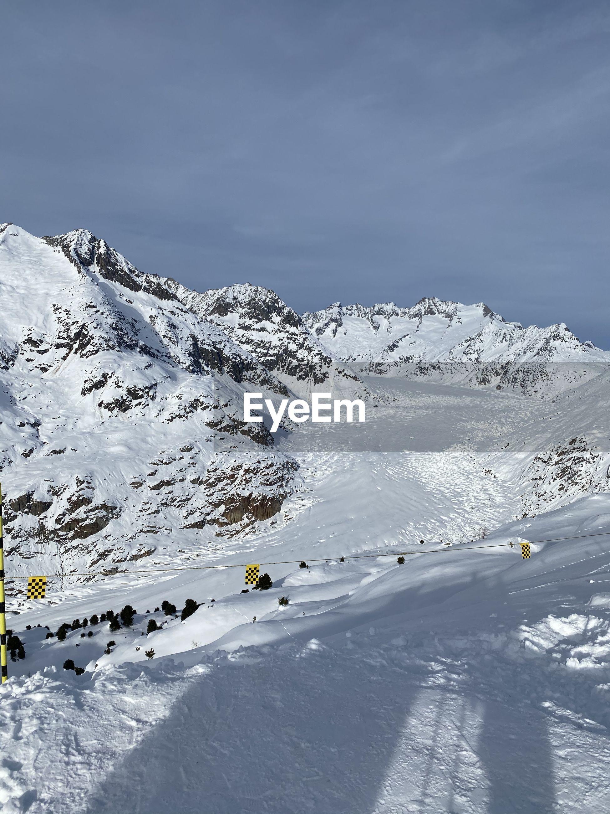 Aletsch glacier, the largest glacier of the alps // fiesch, switzerland