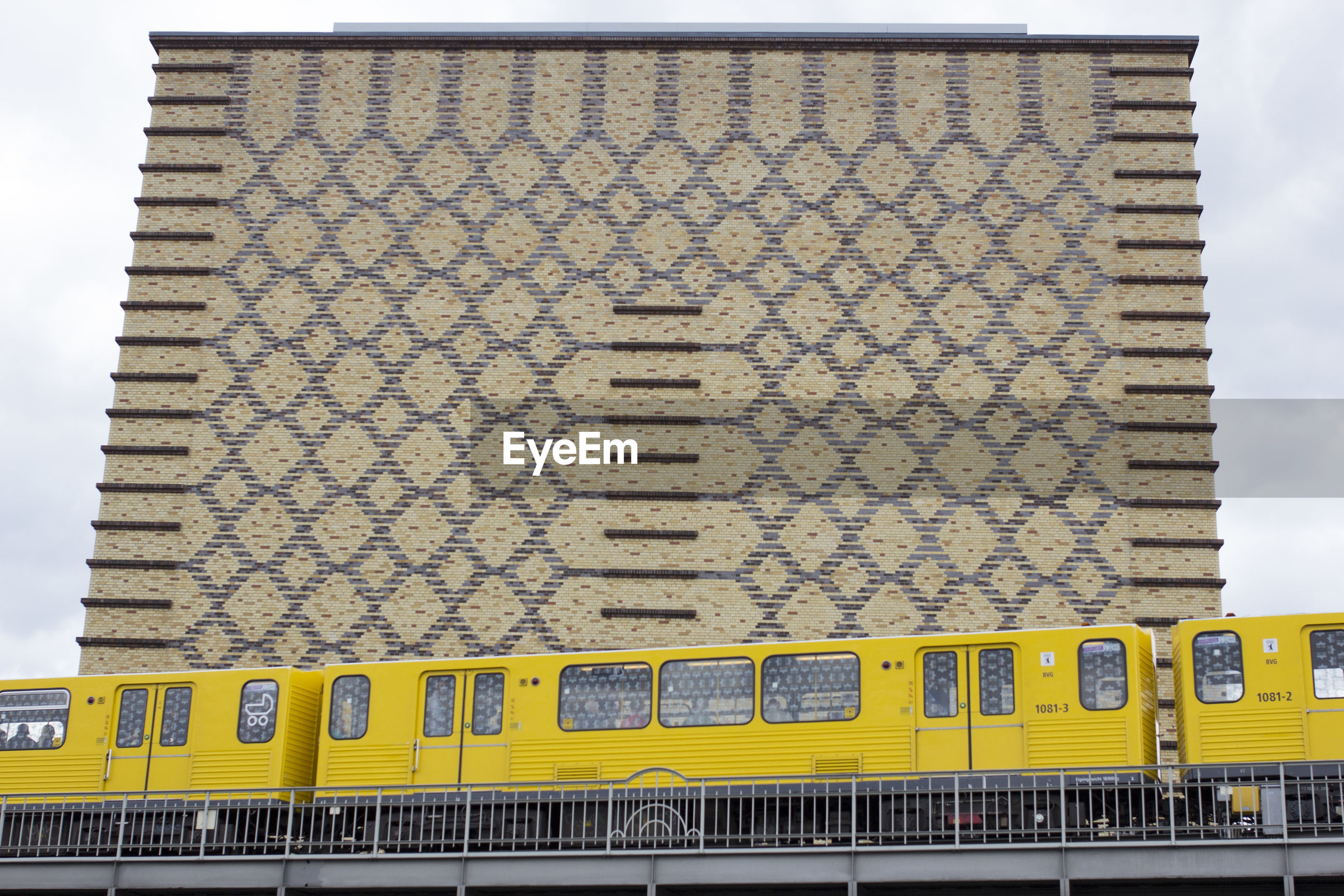 CLOSE-UP OF YELLOW TRAIN