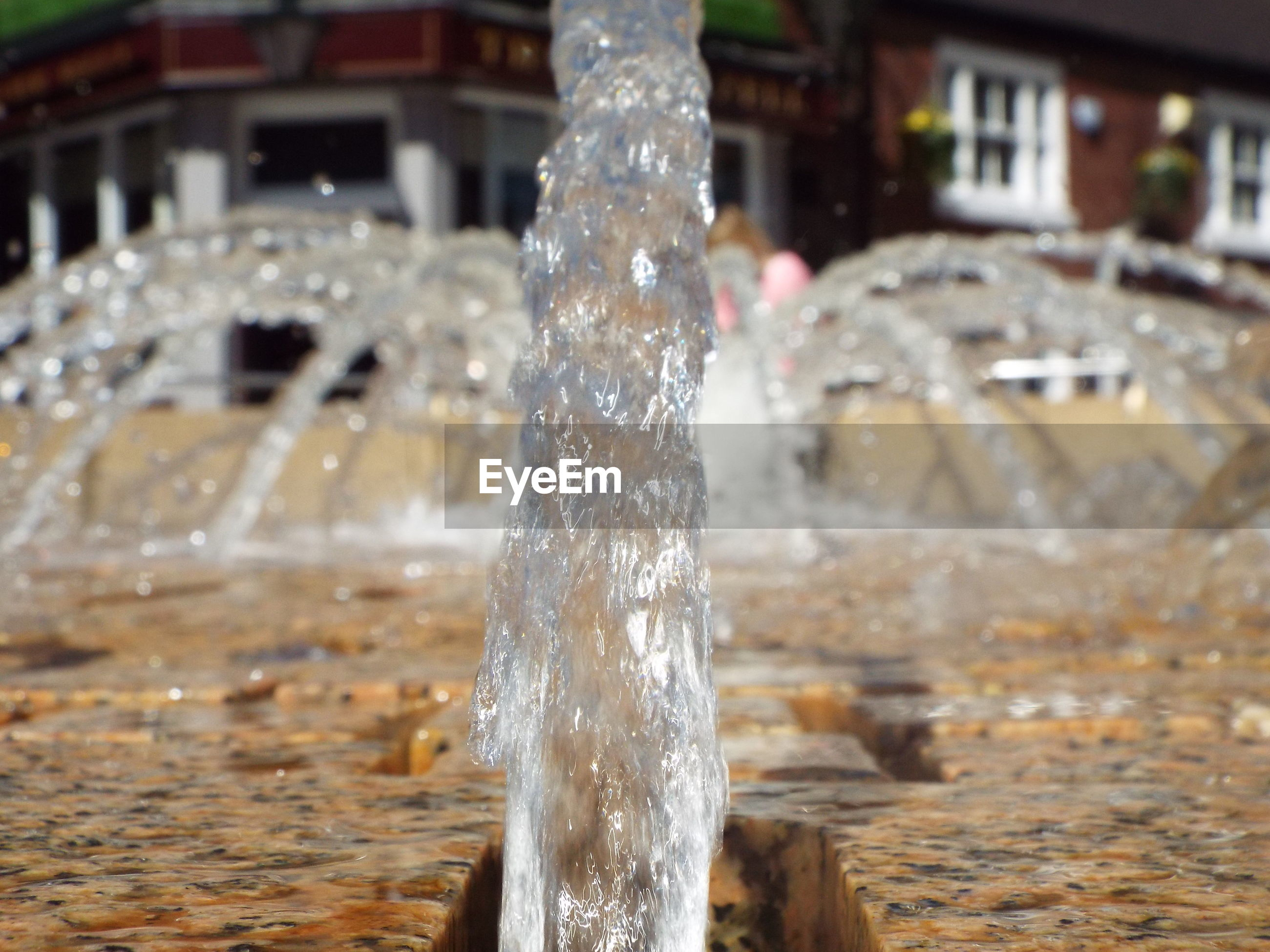Surface level of fountain