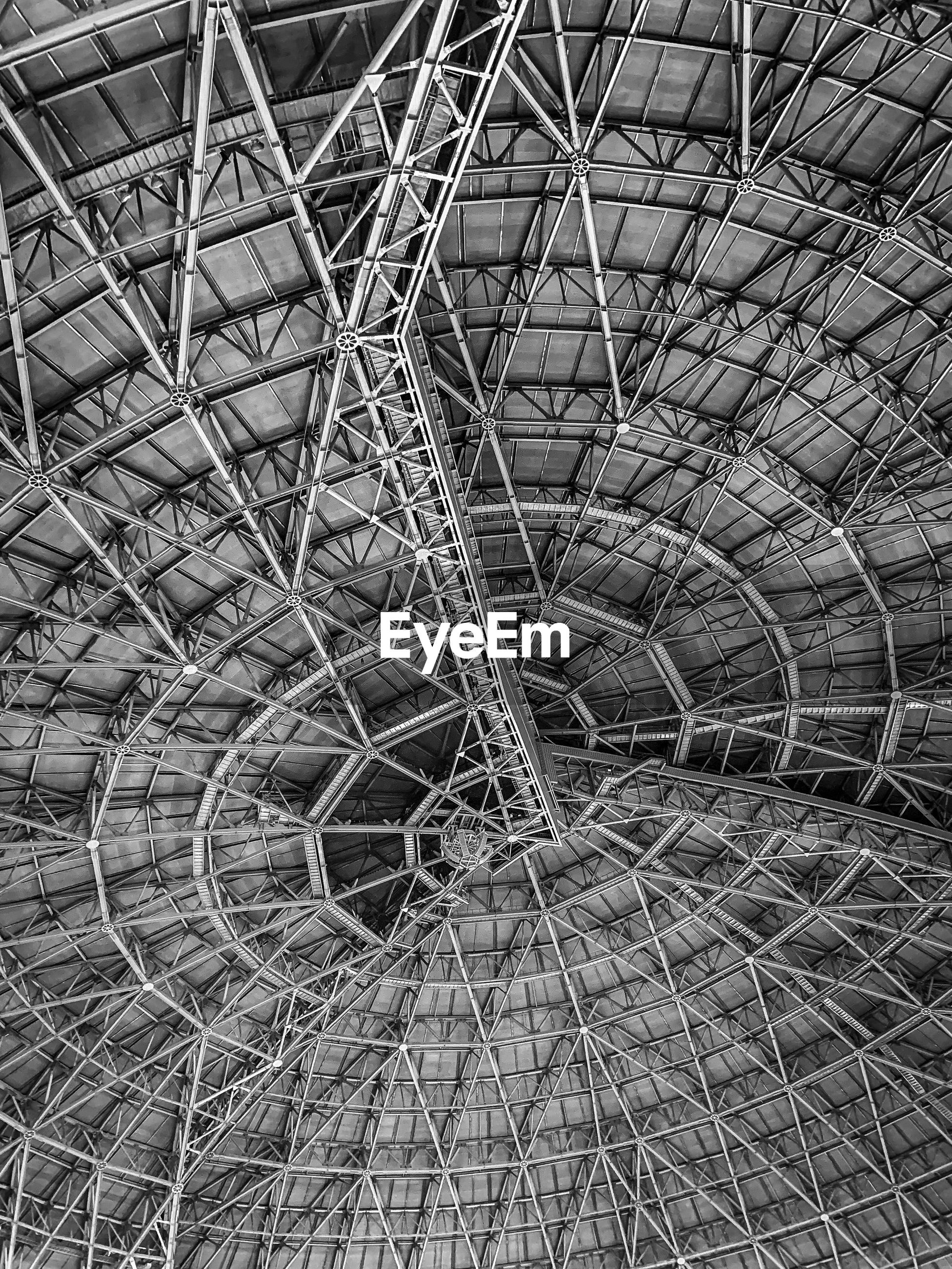 pattern, built structure, metal, architecture, no people, day, full frame, backgrounds, outdoors, design, industry, architectural feature, transportation, roof, high angle view, shape, connection, travel, abandoned, ceiling, complexity