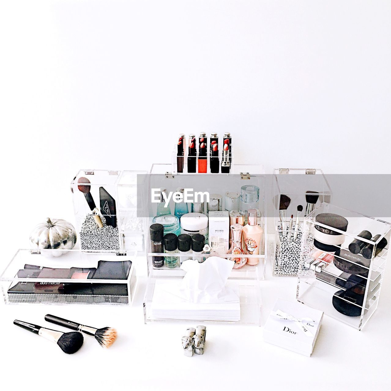 beauty product, white background, still life, make-up, no people, studio shot, large group of objects, eyeshadow, body care and beauty, indoors, beauty treatment
