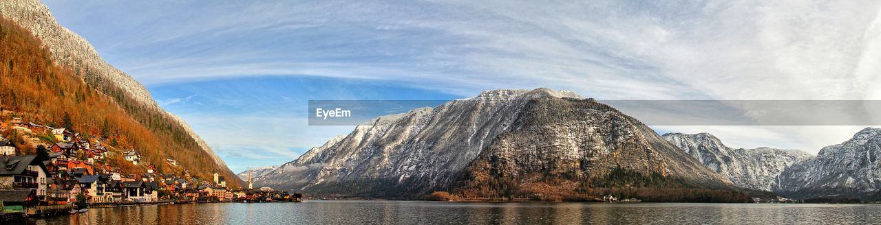 mountain, nature, sky, water, beauty in nature, day, scenics, mountain range, lake, outdoors, no people, range