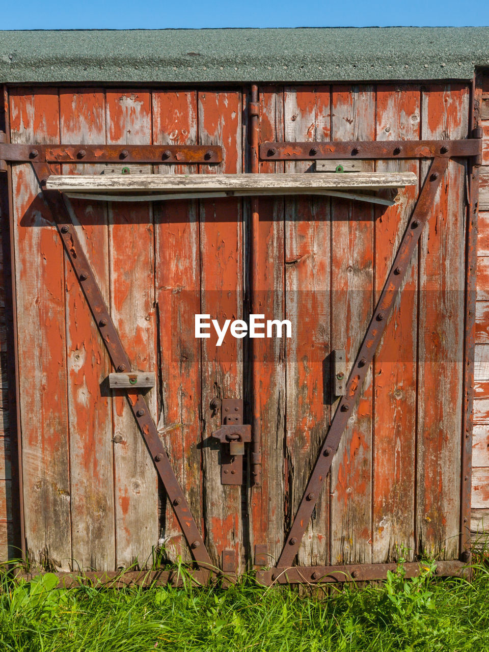 Old Wooden Gate On Field