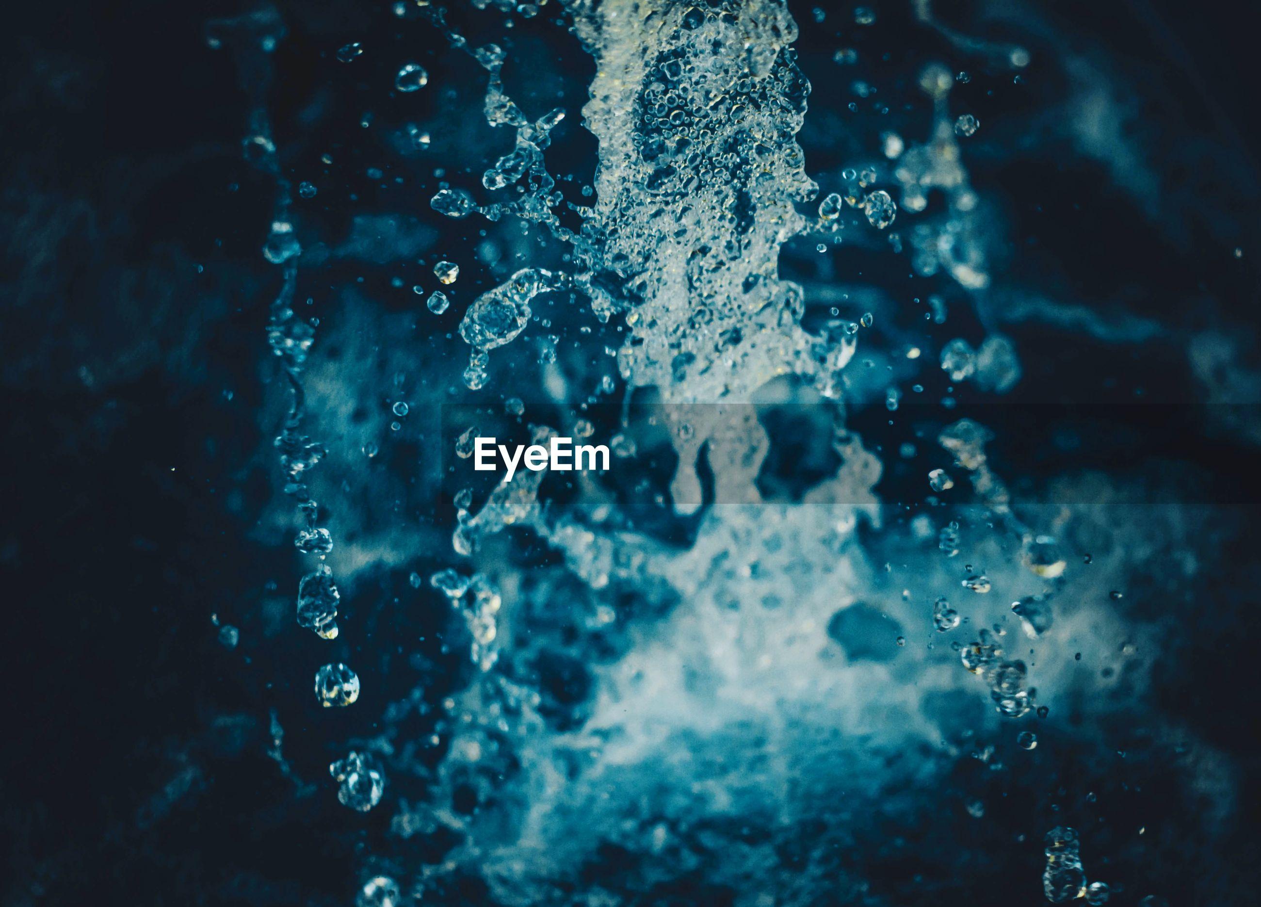 Full frame shot of splashing water