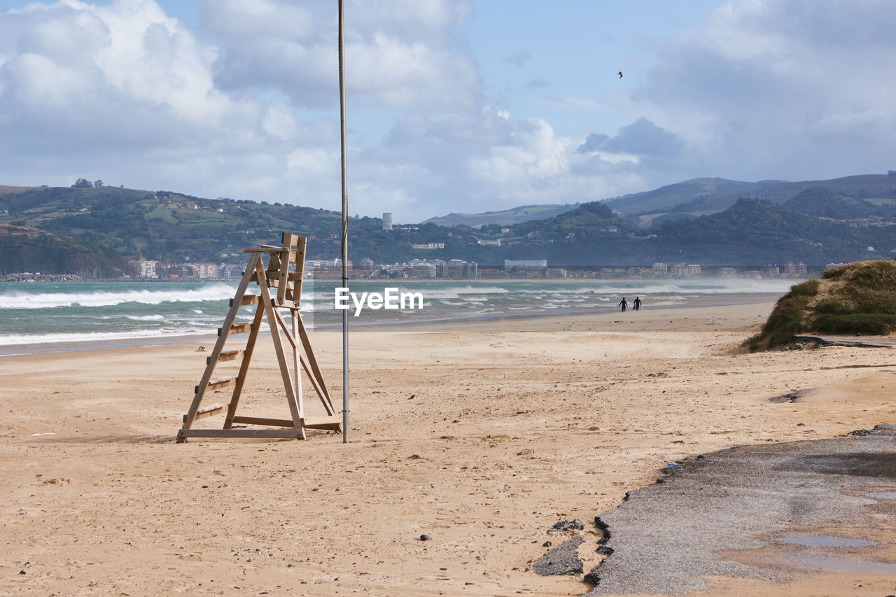 VIEW OF SWING ON BEACH