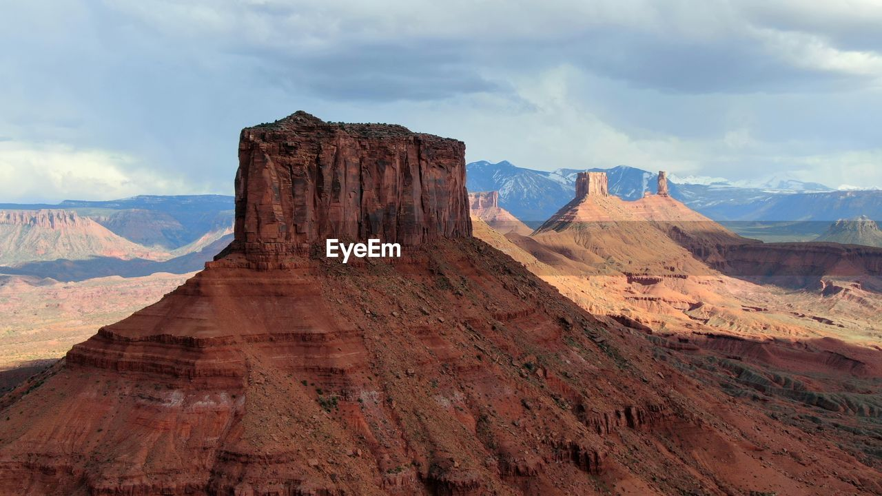 Westworld movie location scenic view of butte in castle valley