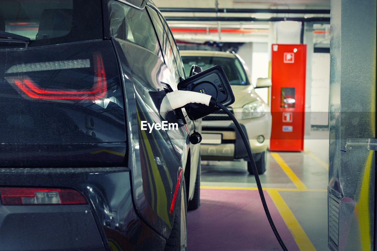 Car charging at station