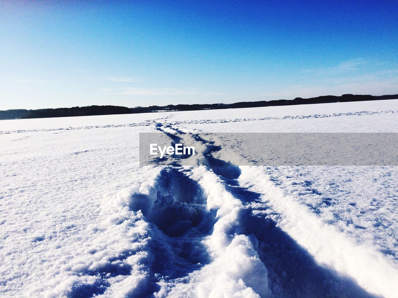 cold temperature, snow, nature, winter, white color, beauty in nature, tranquil scene, blue, scenics, tranquility, day, outdoors, frozen, no people, clear sky, sky