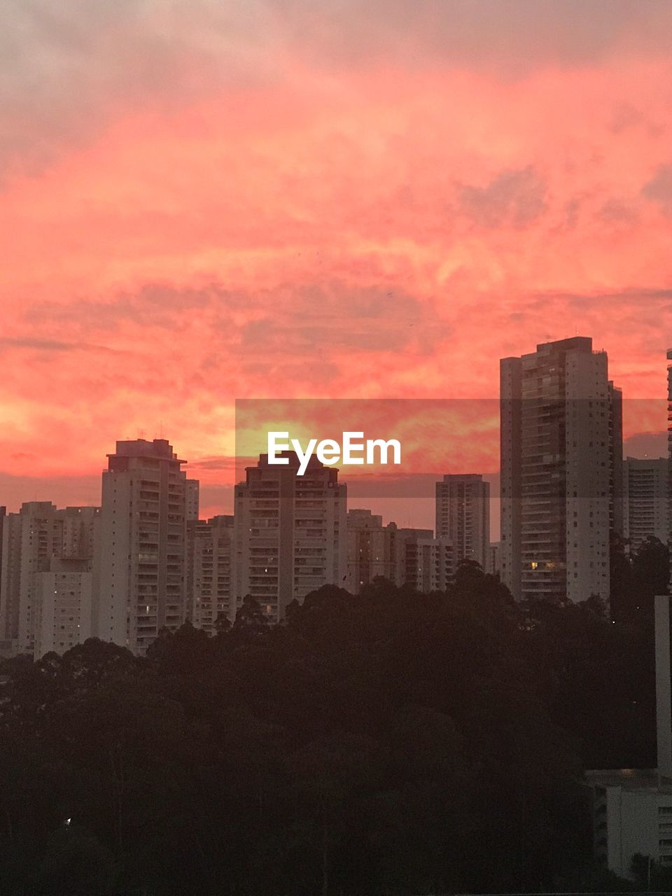 sunset, architecture, building exterior, skyscraper, orange color, built structure, no people, sky, city, cityscape, modern, outdoors, nature, day