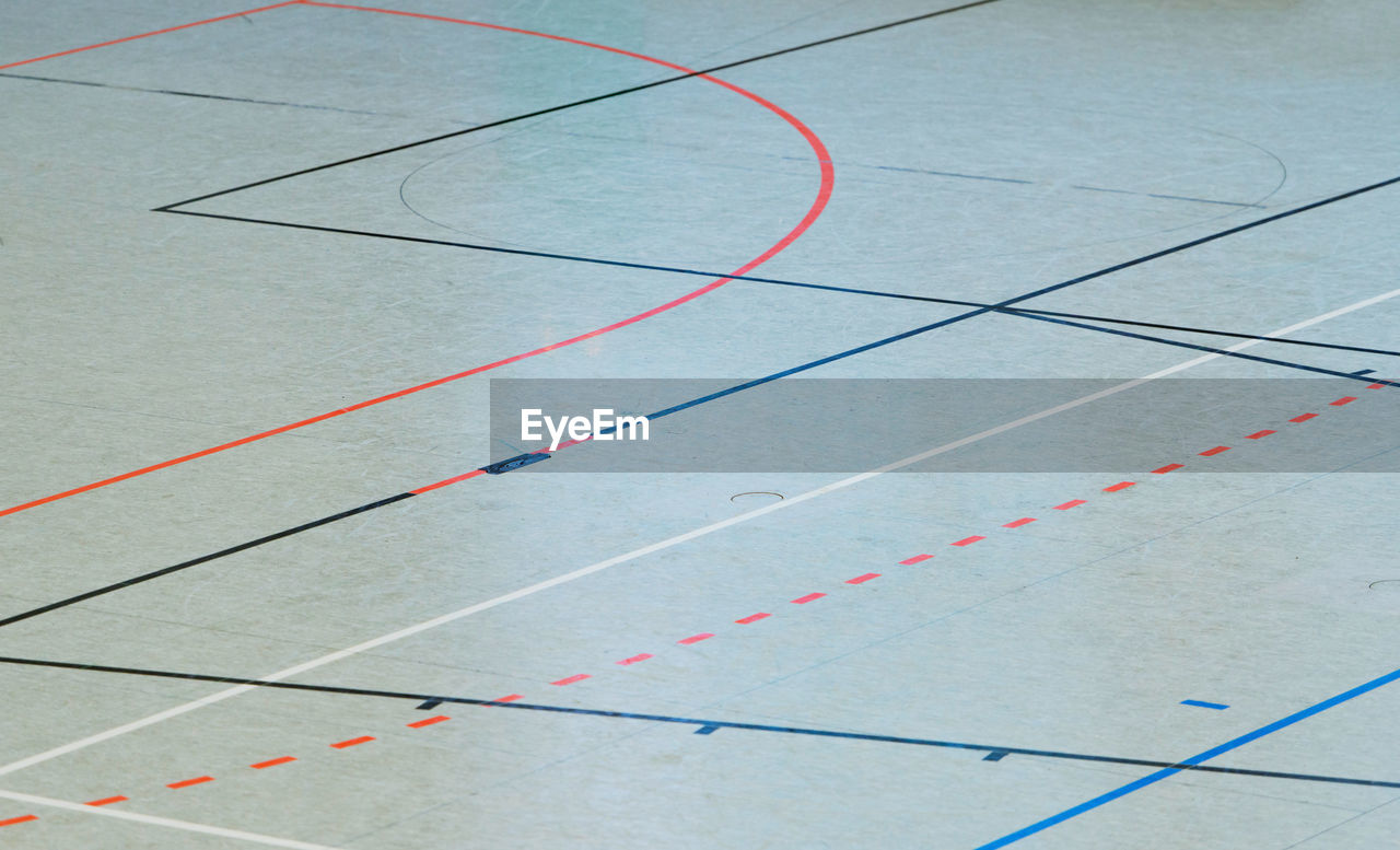 sport, no people, day, outdoors, marking, court, close-up, line