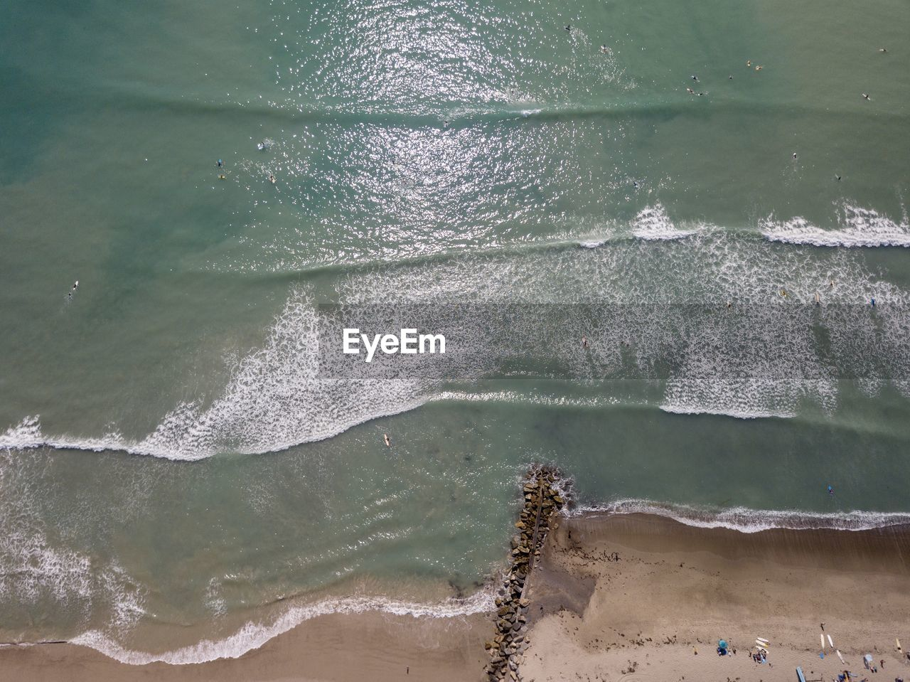 water, sea, beach, wave, land, aquatic sport, beauty in nature, sport, motion, nature, day, no people, high angle view, outdoors, scenics - nature, tranquility, sand, tranquil scene, power in nature
