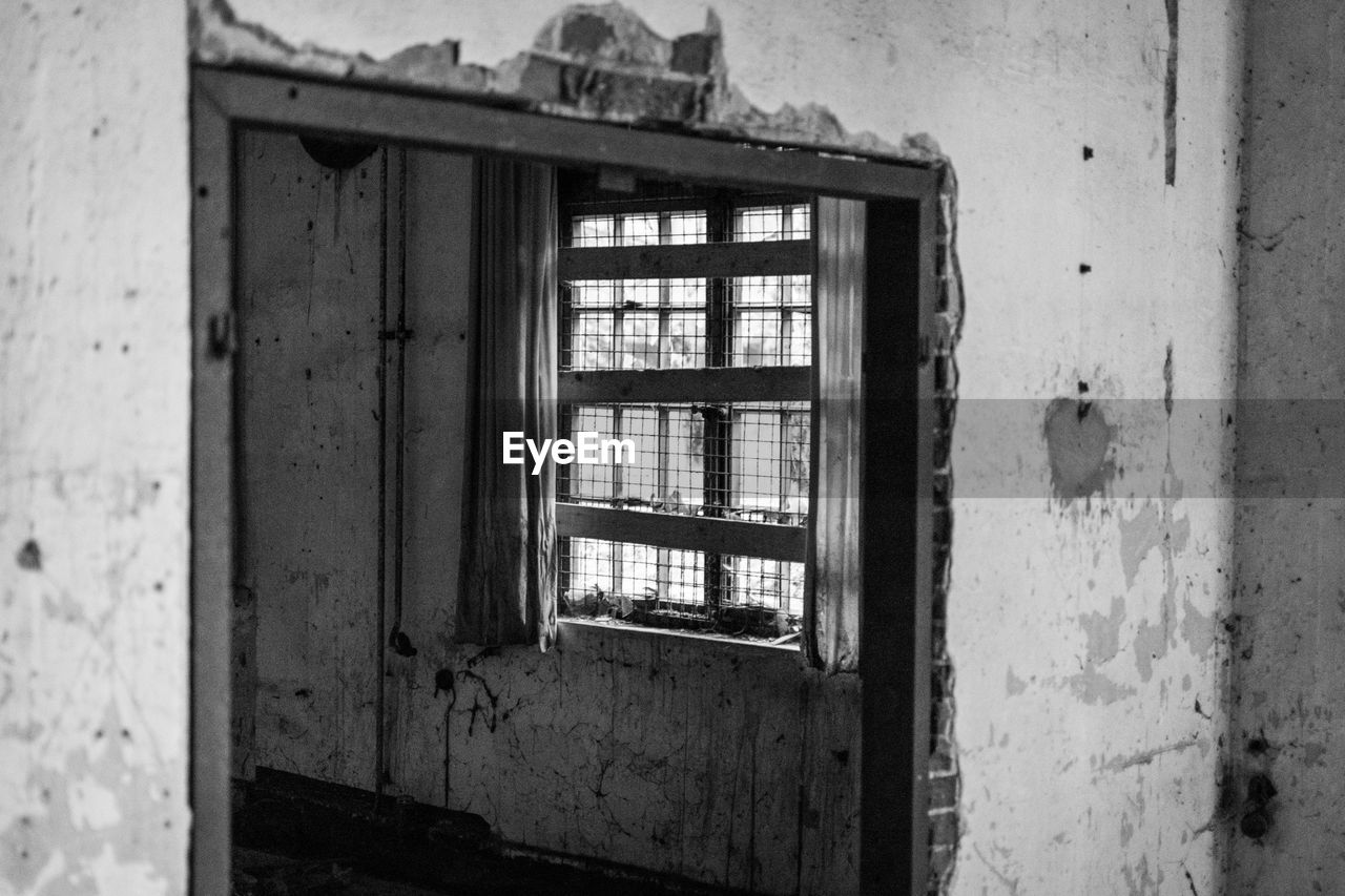 window, architecture, abandoned, damaged, built structure, no people, day, indoors, bad condition, close-up
