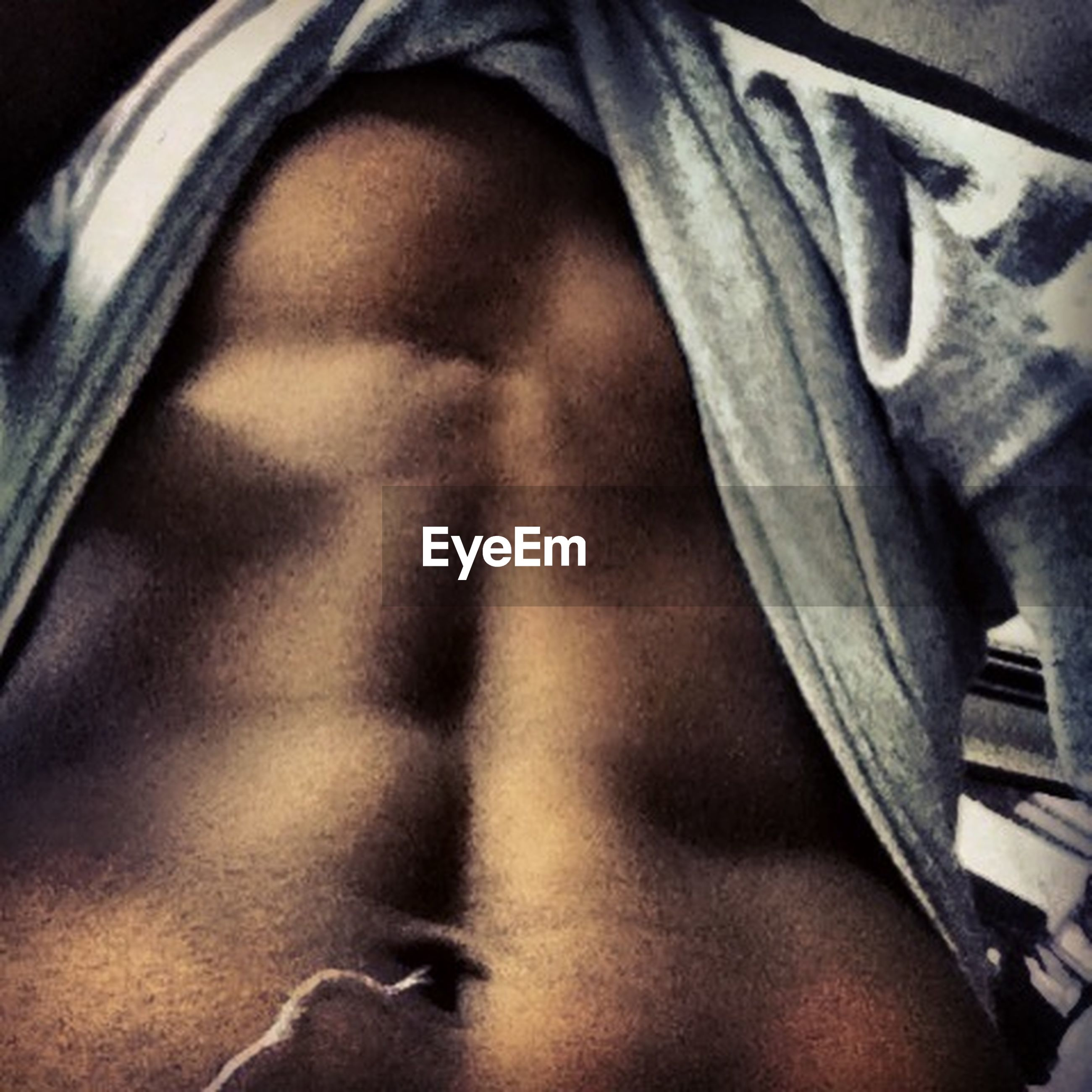 indoors, person, part of, close-up, low section, lifestyles, home interior, relaxation, bed, high angle view, men, cropped, selective focus, midsection, unrecognizable person