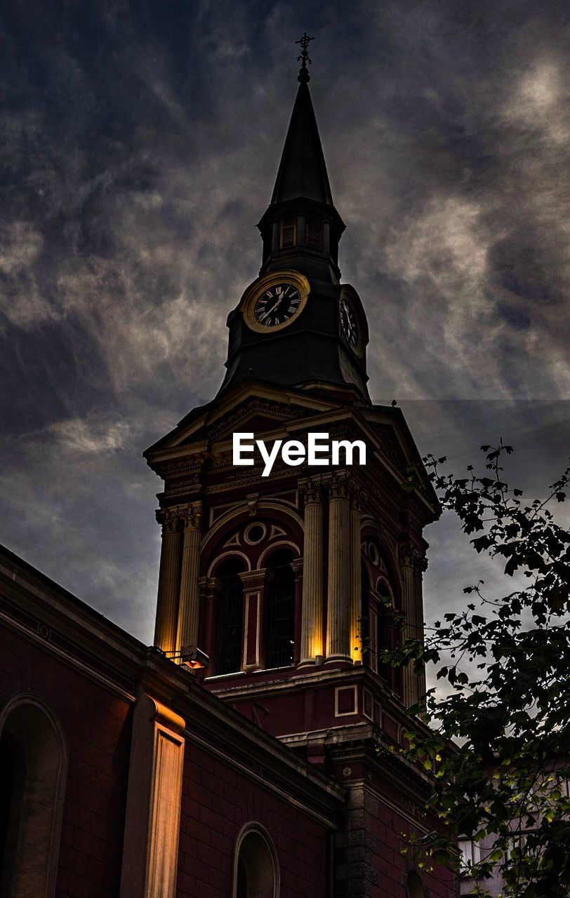 religion, architecture, cloud - sky, built structure, spirituality, place of worship, sky, building exterior, low angle view, clock tower, tower, history, outdoors, no people, travel destinations, day, bell tower, clock