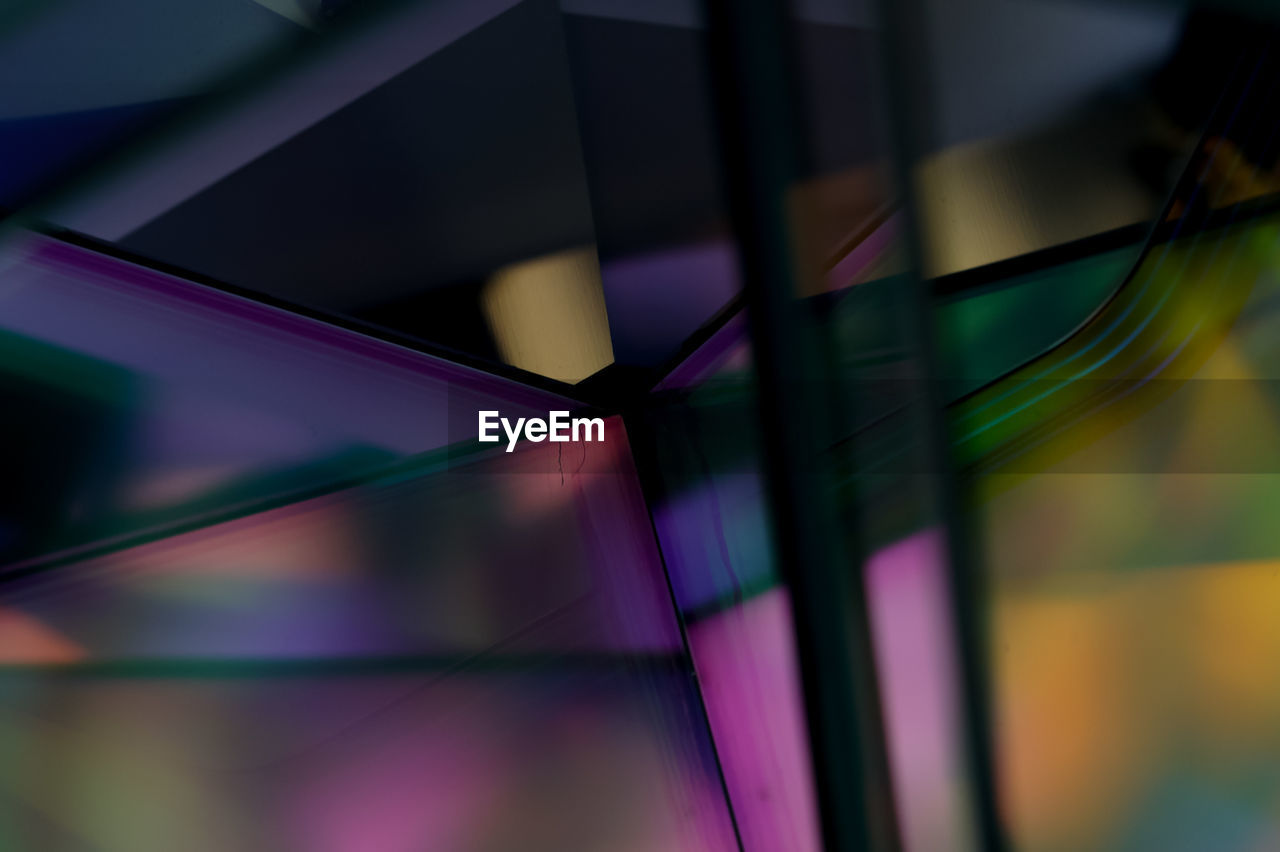 multi colored, close-up, colorful, abstract, full frame, no people, backgrounds, purple, night, indoors, illuminated