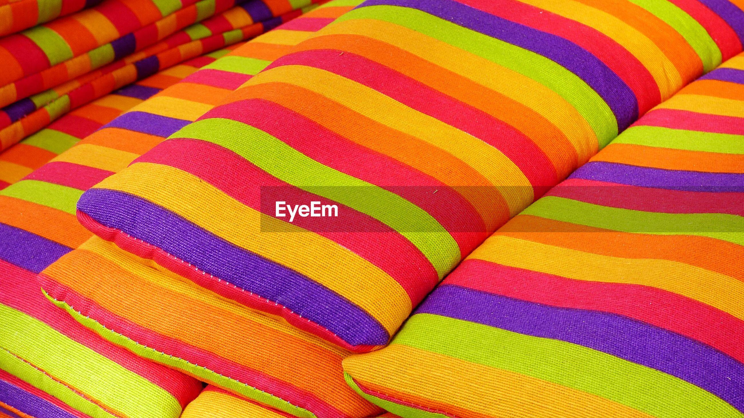 Full frame shot of colorful pillows
