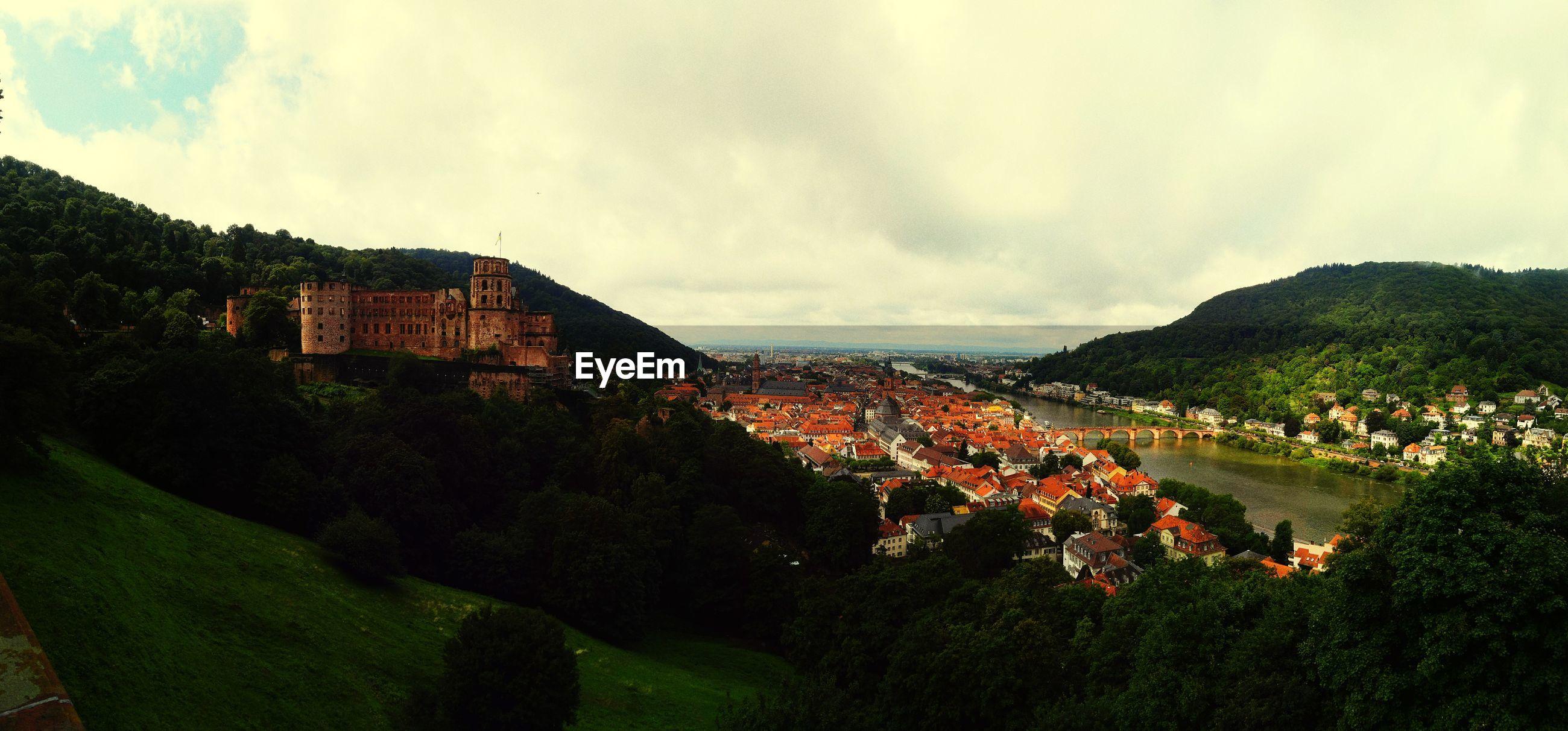 TOWN AGAINST SKY