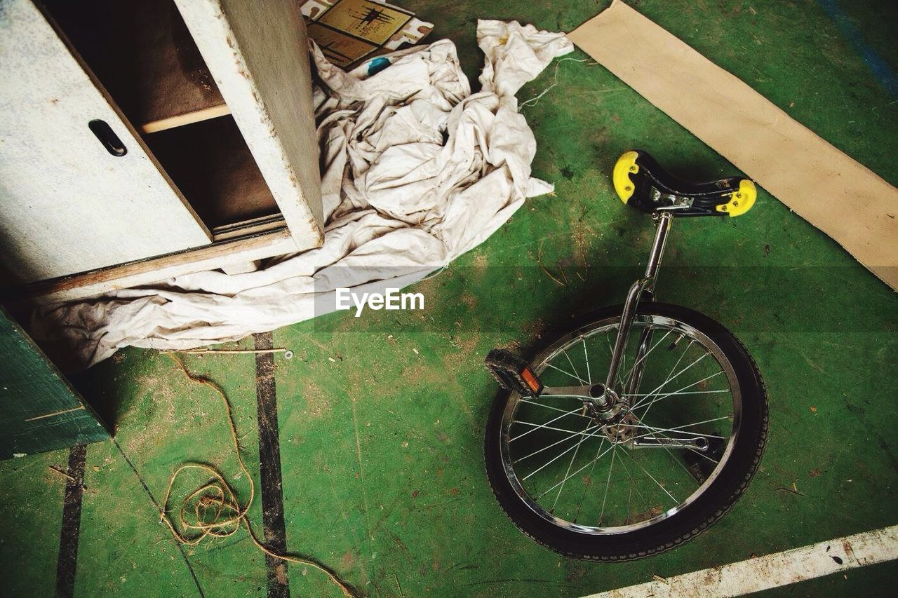 High Angle View Of Unicycle