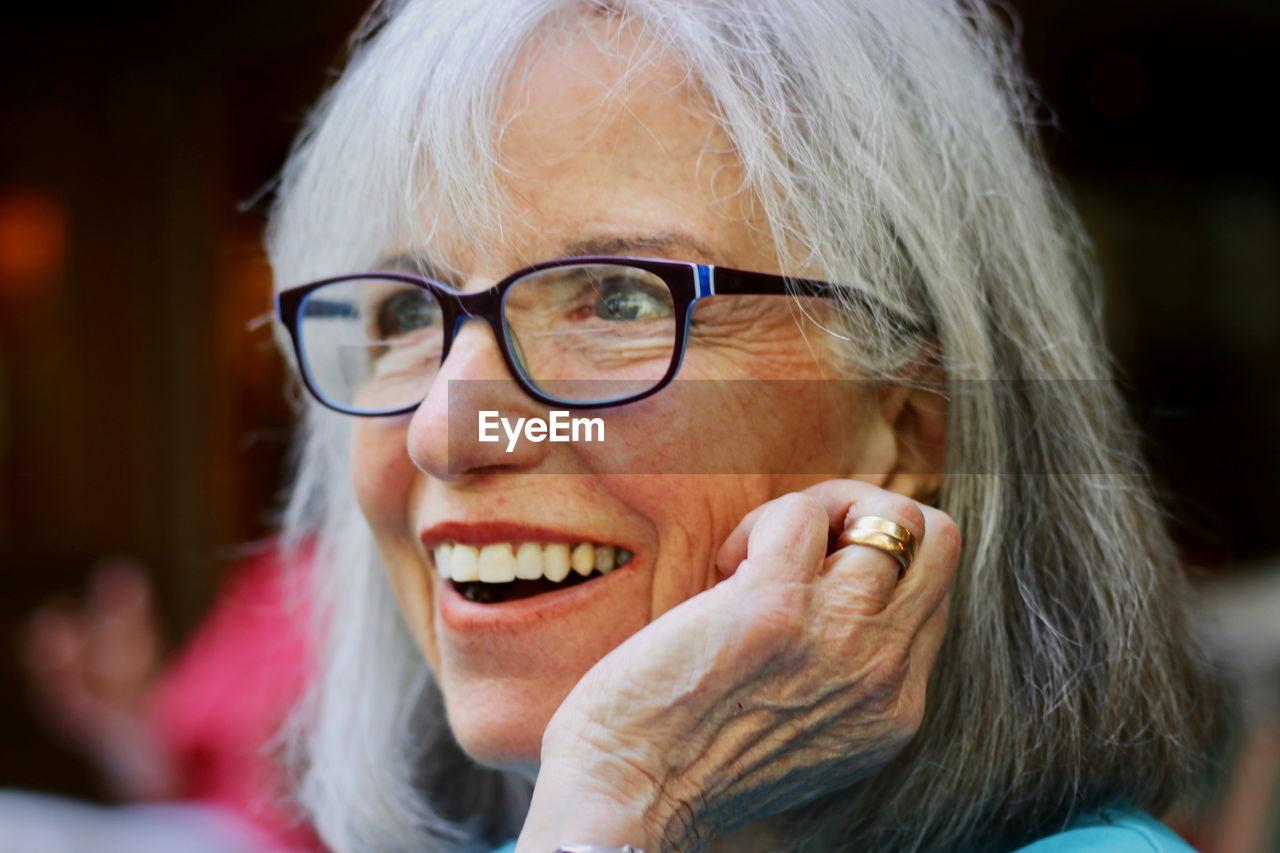 Close-Up Of Smiling Senior Woman