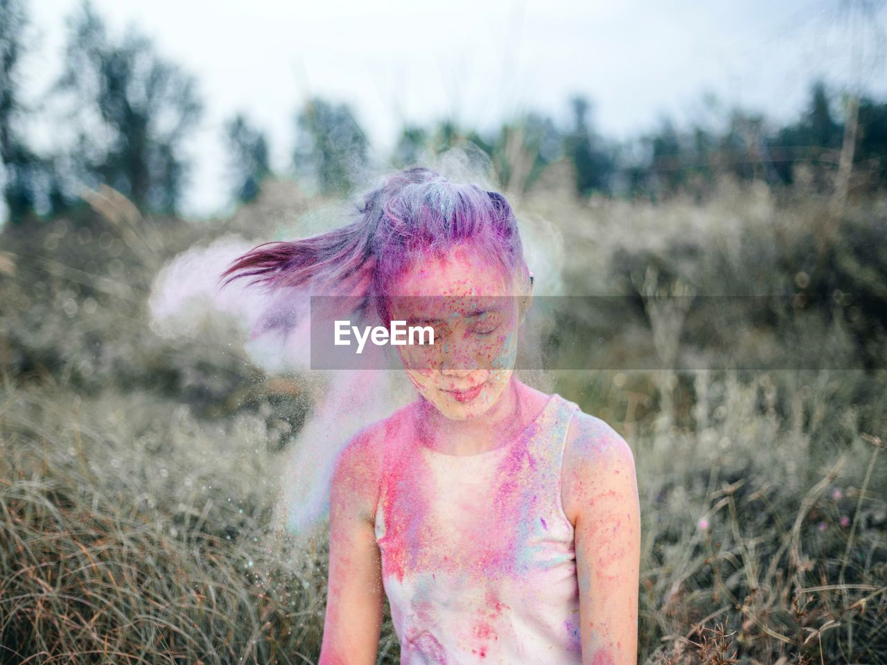 Young Girl With Powder Paint