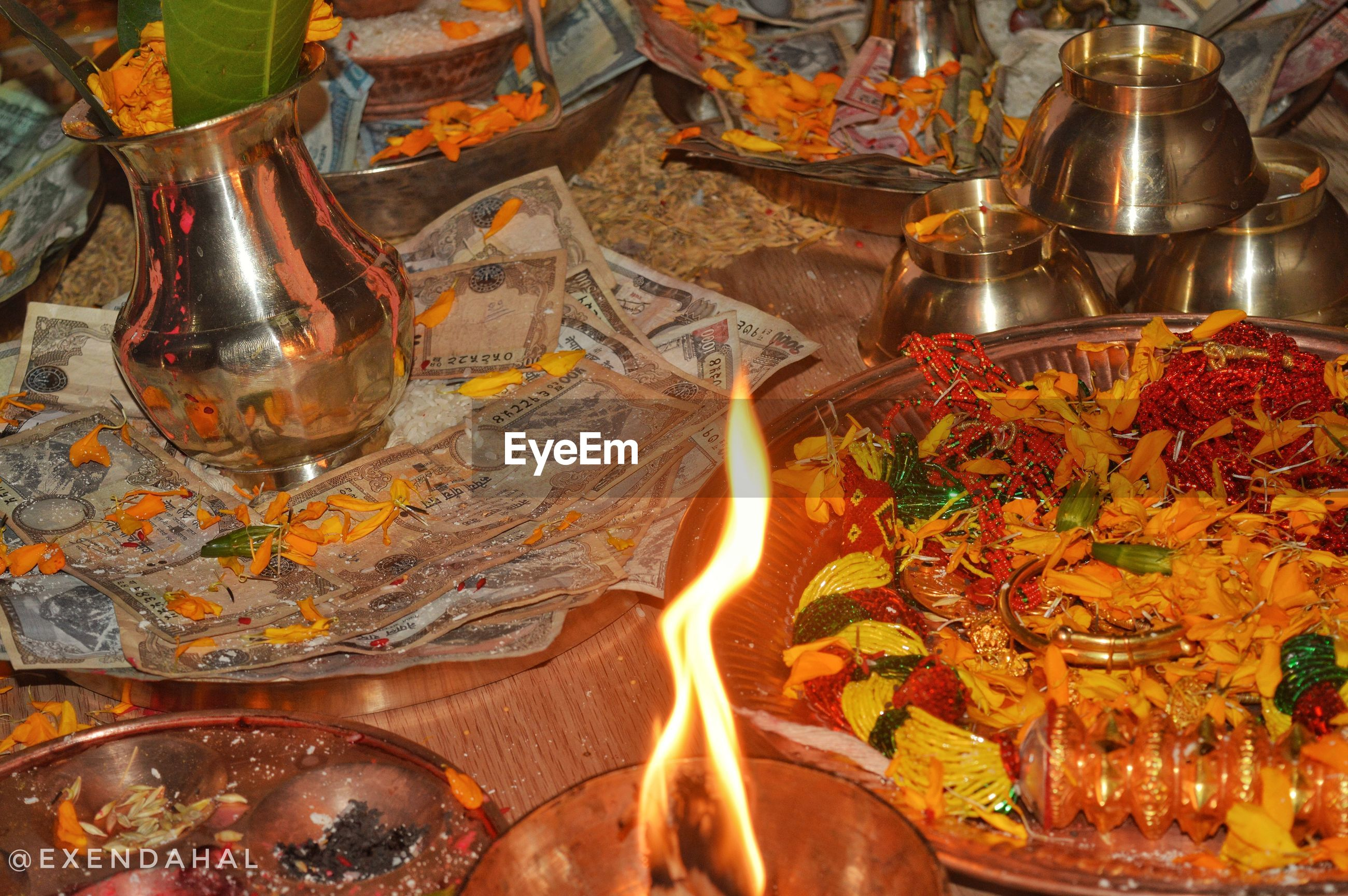 table, food, food and drink, no people, drinking glass, plate, indoors, flame, alcohol, drink, freshness, close-up, day