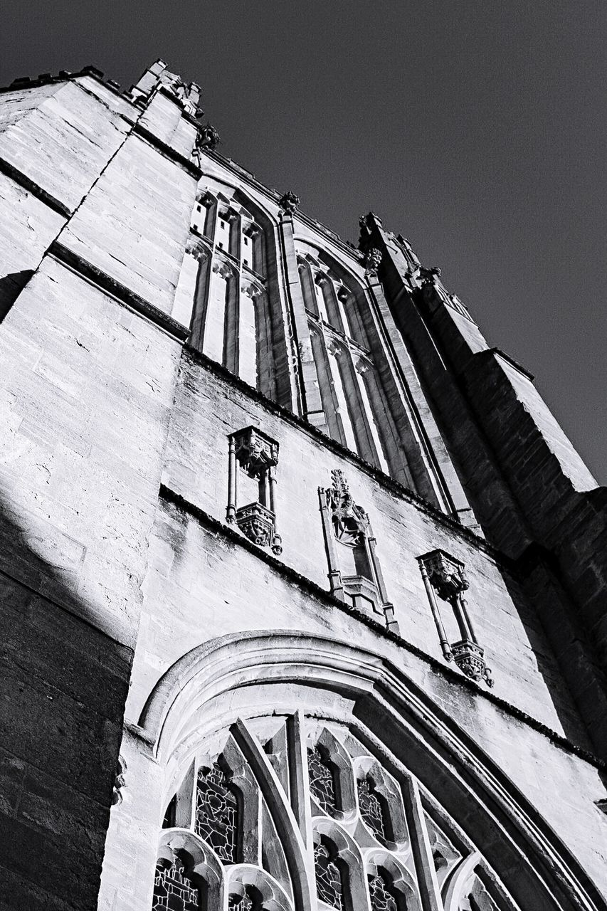 low angle view, architecture, built structure, building exterior, religion, no people, outdoors, day, spirituality, place of worship, sky