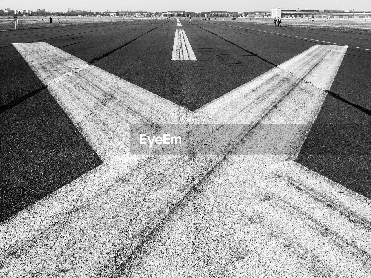 Markings At Airport Runway