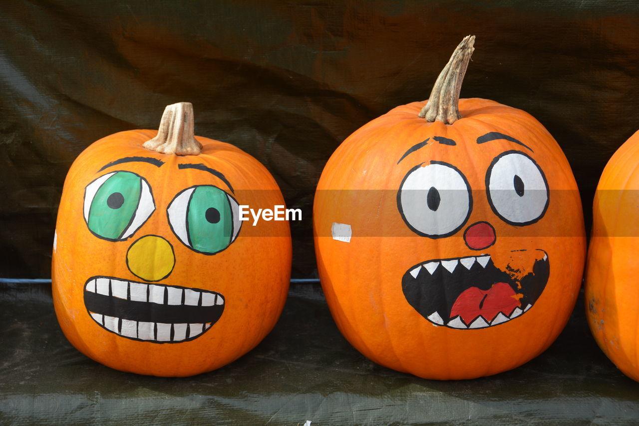 Art Made On Pumpkins During Halloween