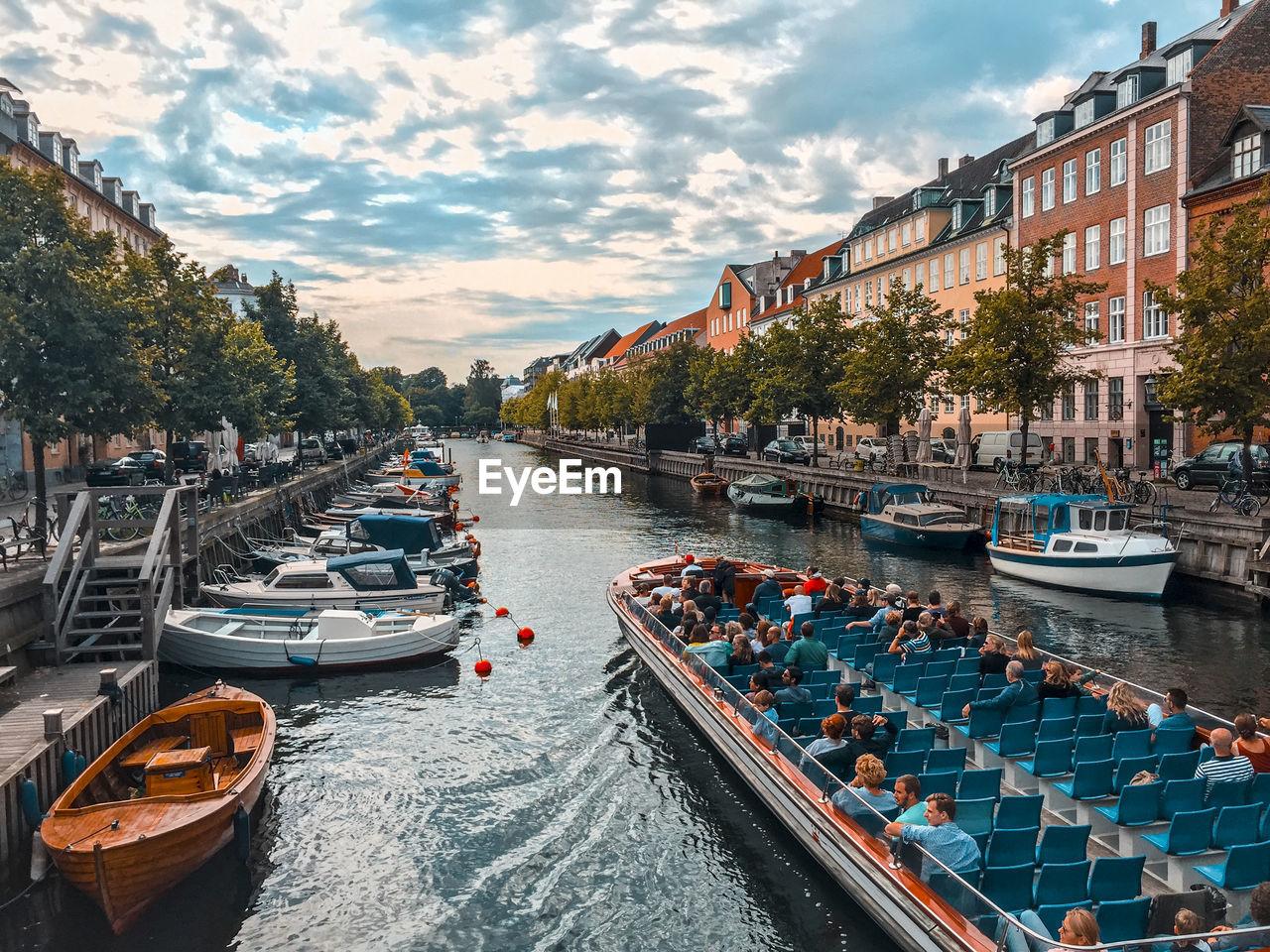 View Of Boats In Copenhagen City River