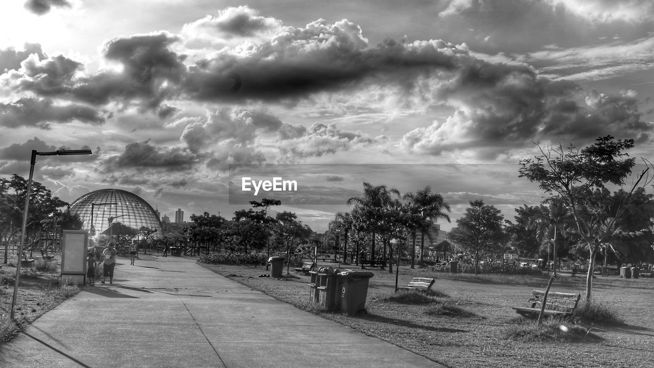cloud - sky, sky, tree, outdoors, amusement park, day, no people, nature