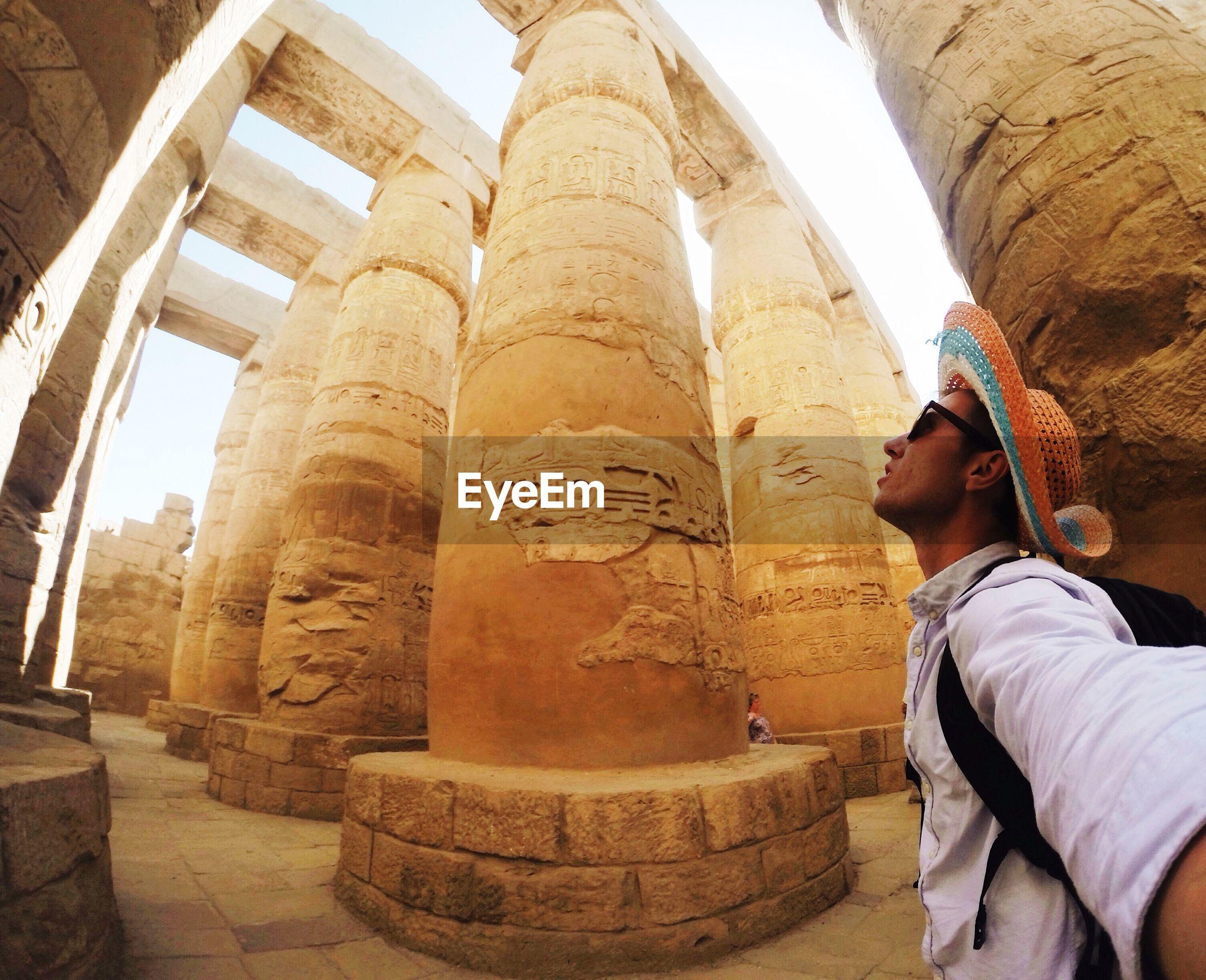 Tourist Visiting Historical Built Structure