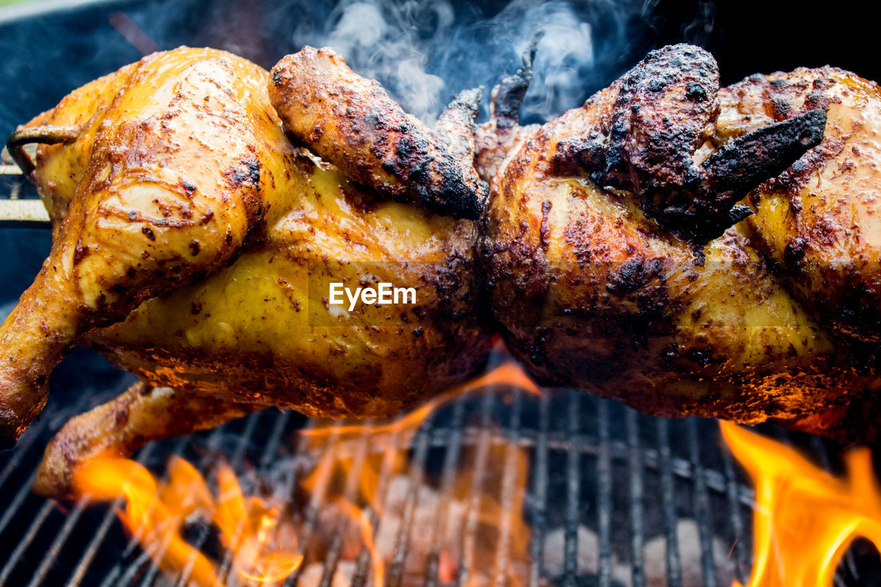 Chicken meat on barbecue