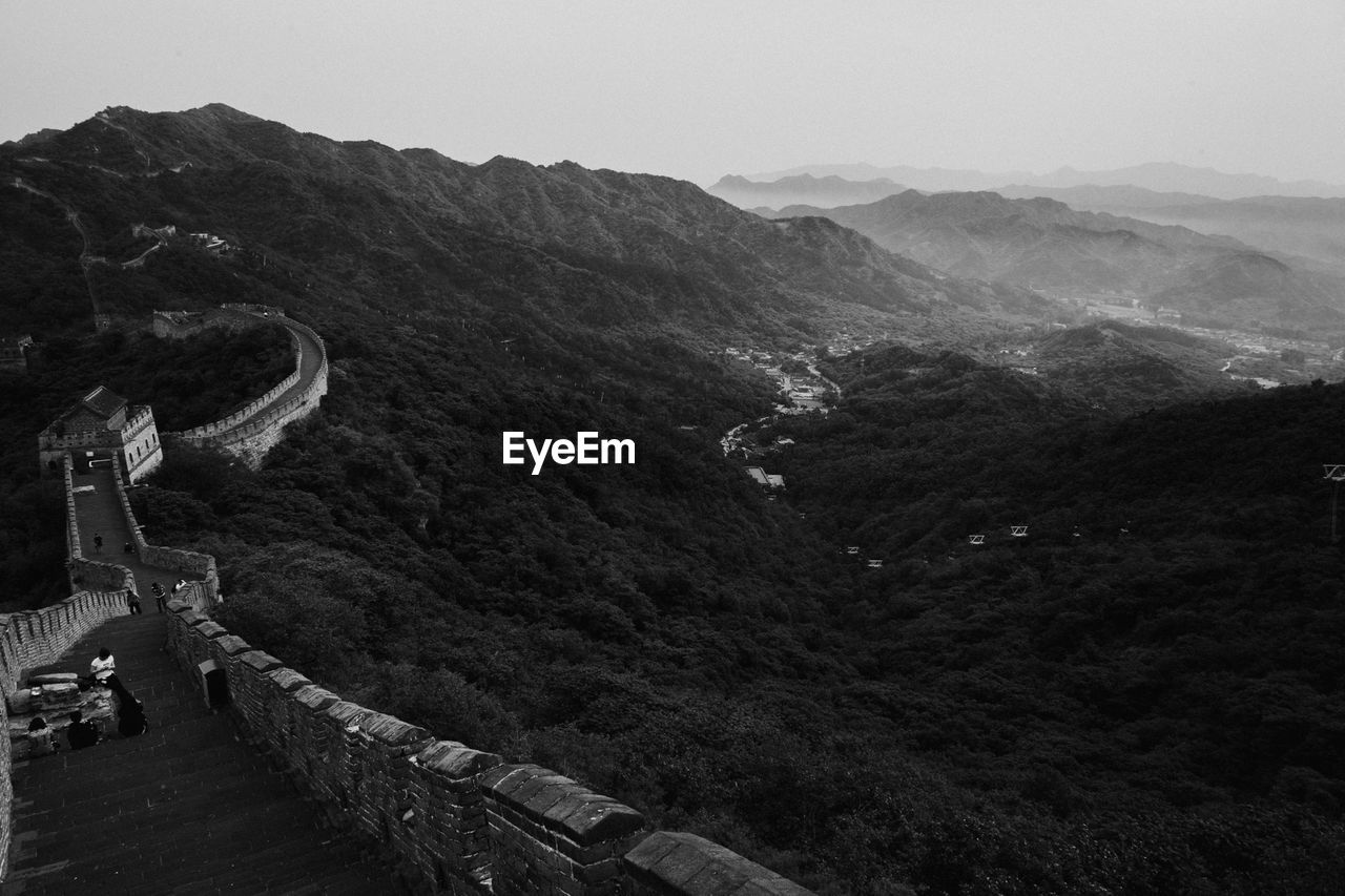 Great Wall Of China By Trees Against Sky