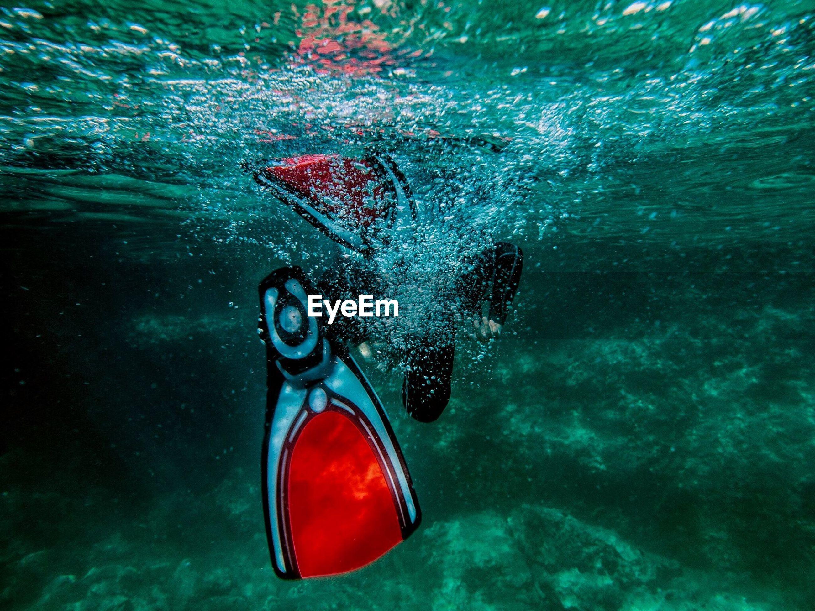 Close-up of scuba diver