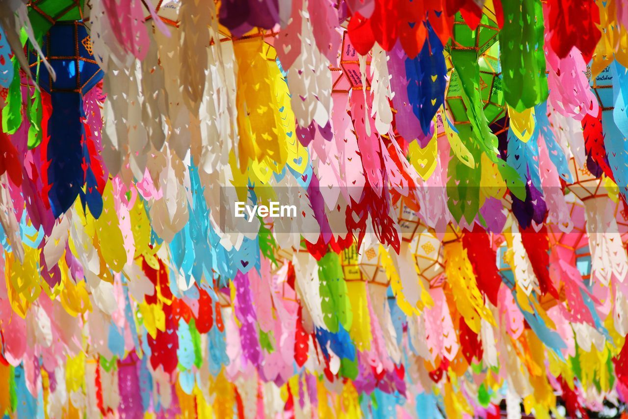 Full frame shot of colorful decorations