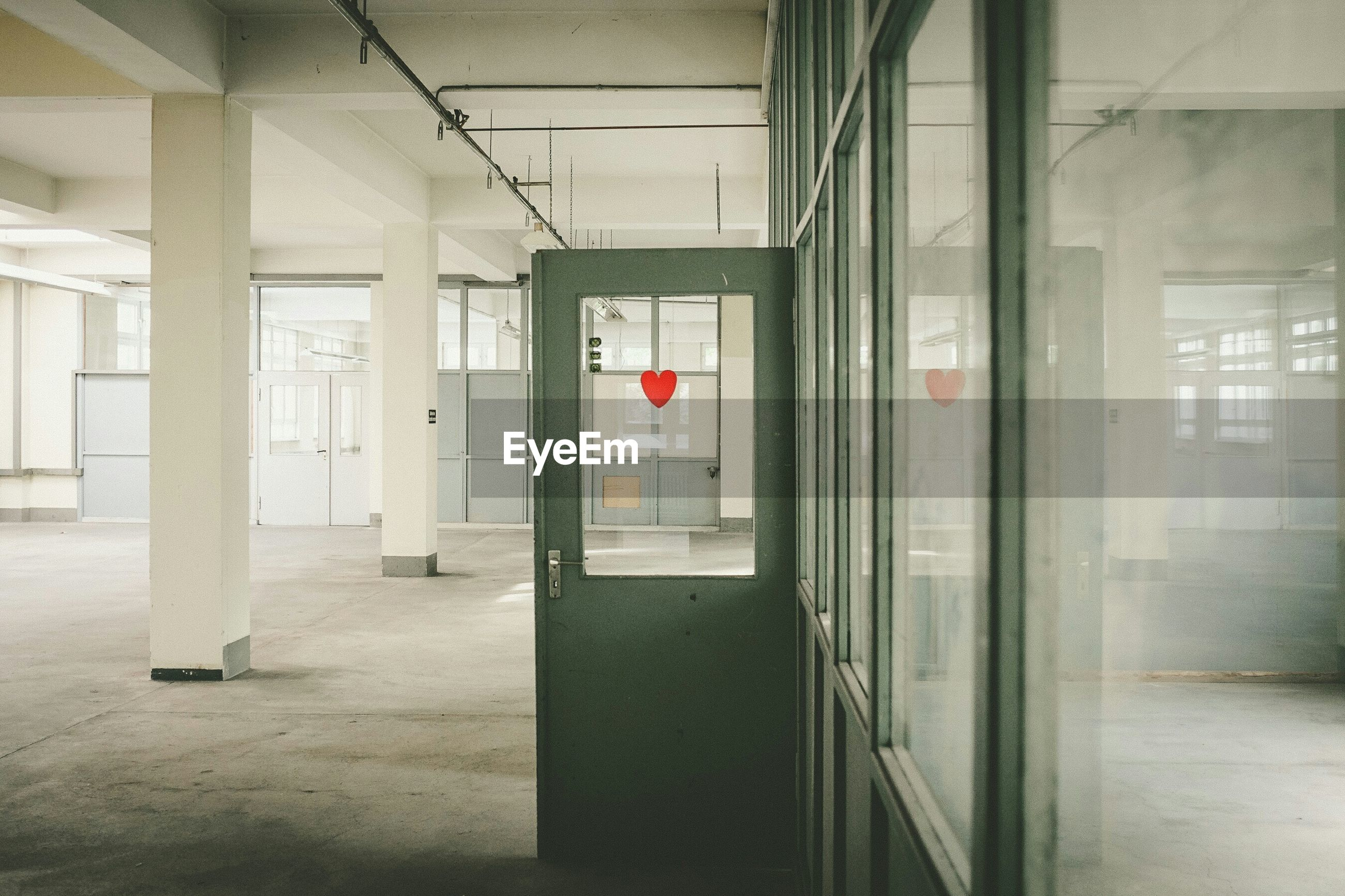 Interior of empty office building