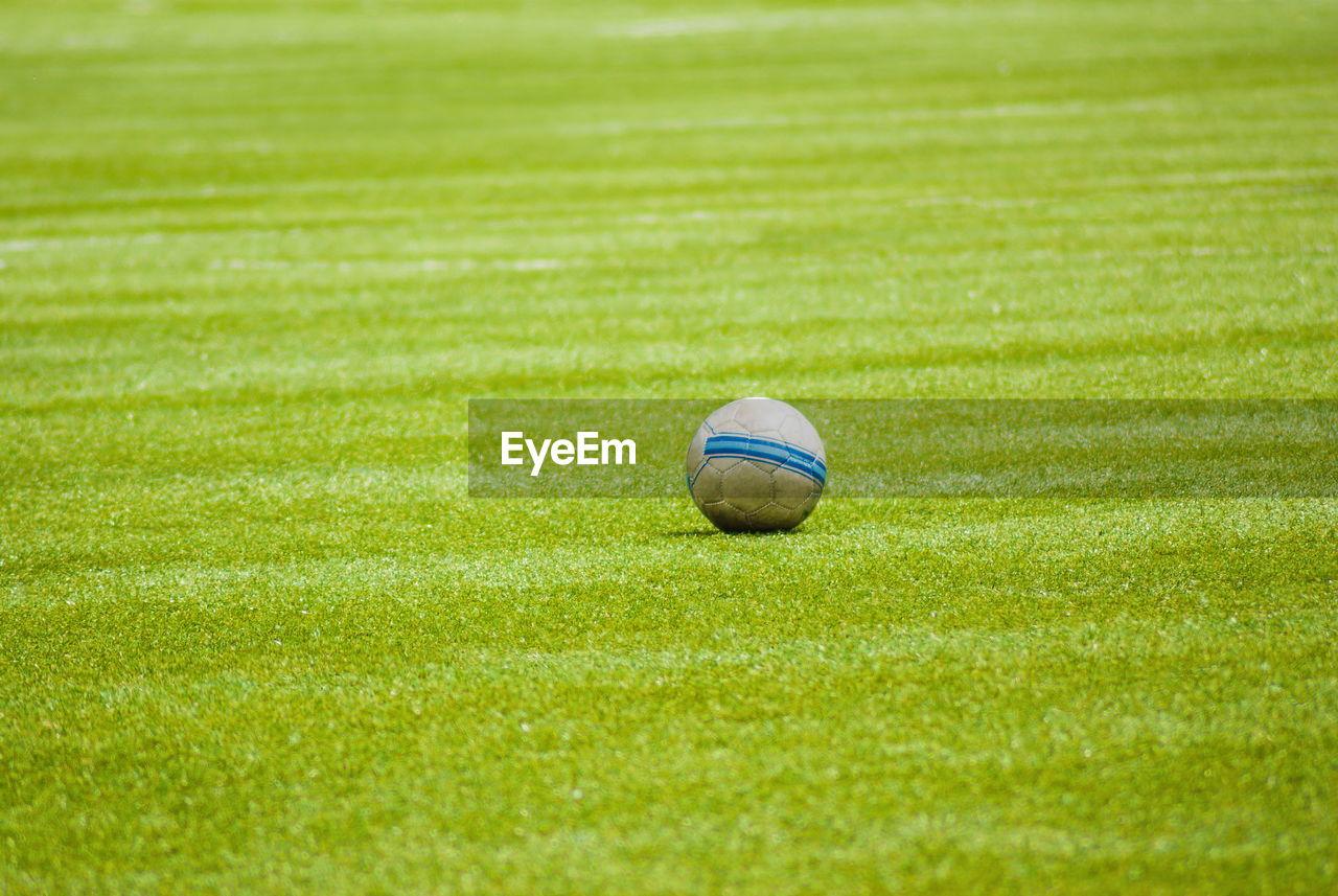 HIGH ANGLE VIEW OF BALL ON GOLF