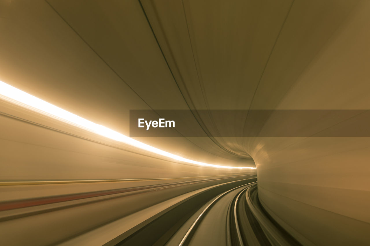 Travelling high speed in a  tunnel tube