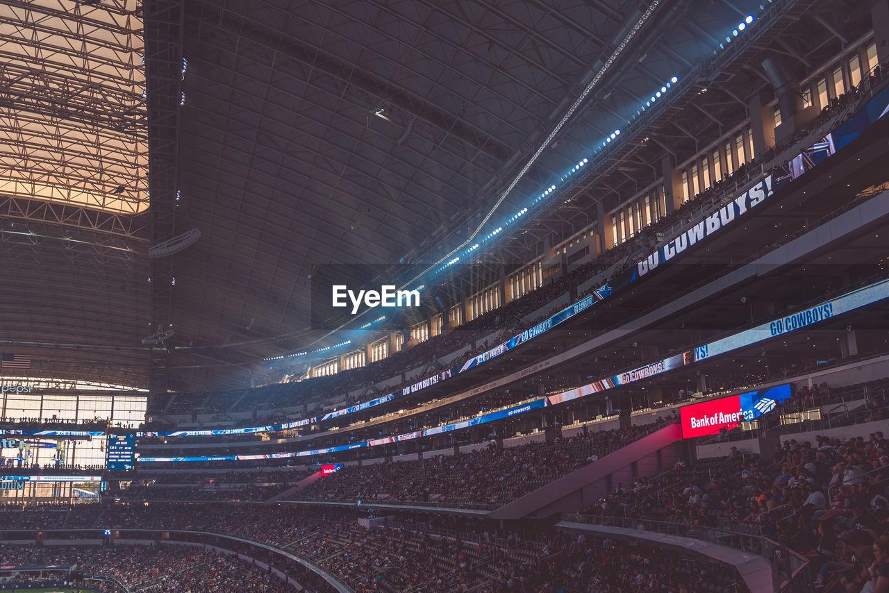 illuminated, stadium, sport, crowd, architecture, real people, night, audience, indoors, people
