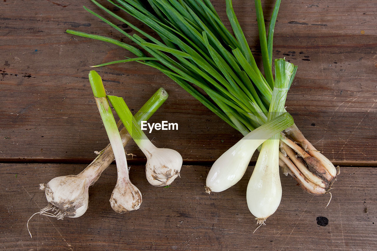 vegetable, food and drink, food, freshness, healthy eating, wood - material, wellbeing, still life, high angle view, raw food, green color, indoors, table, no people, spring onion, onion, directly above, close-up, organic, cutting board, herb, chopped, vegetarian food