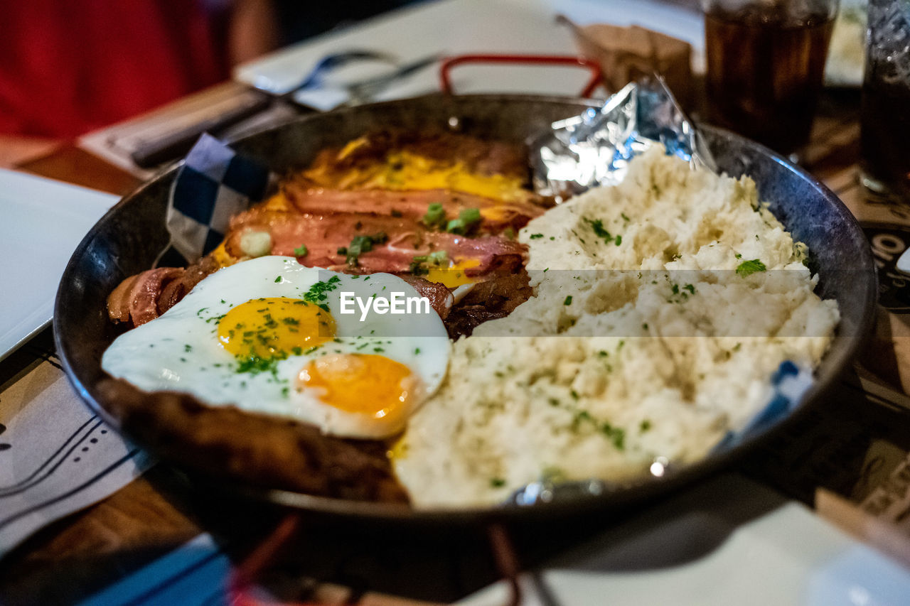 ready-to-eat, food and drink, food, egg, fried egg, healthy eating, indoors, freshness, serving size, close-up, fried, breakfast, meal, still life, sunny side up, table, wellbeing, no people, meat, selective focus, egg yolk, temptation