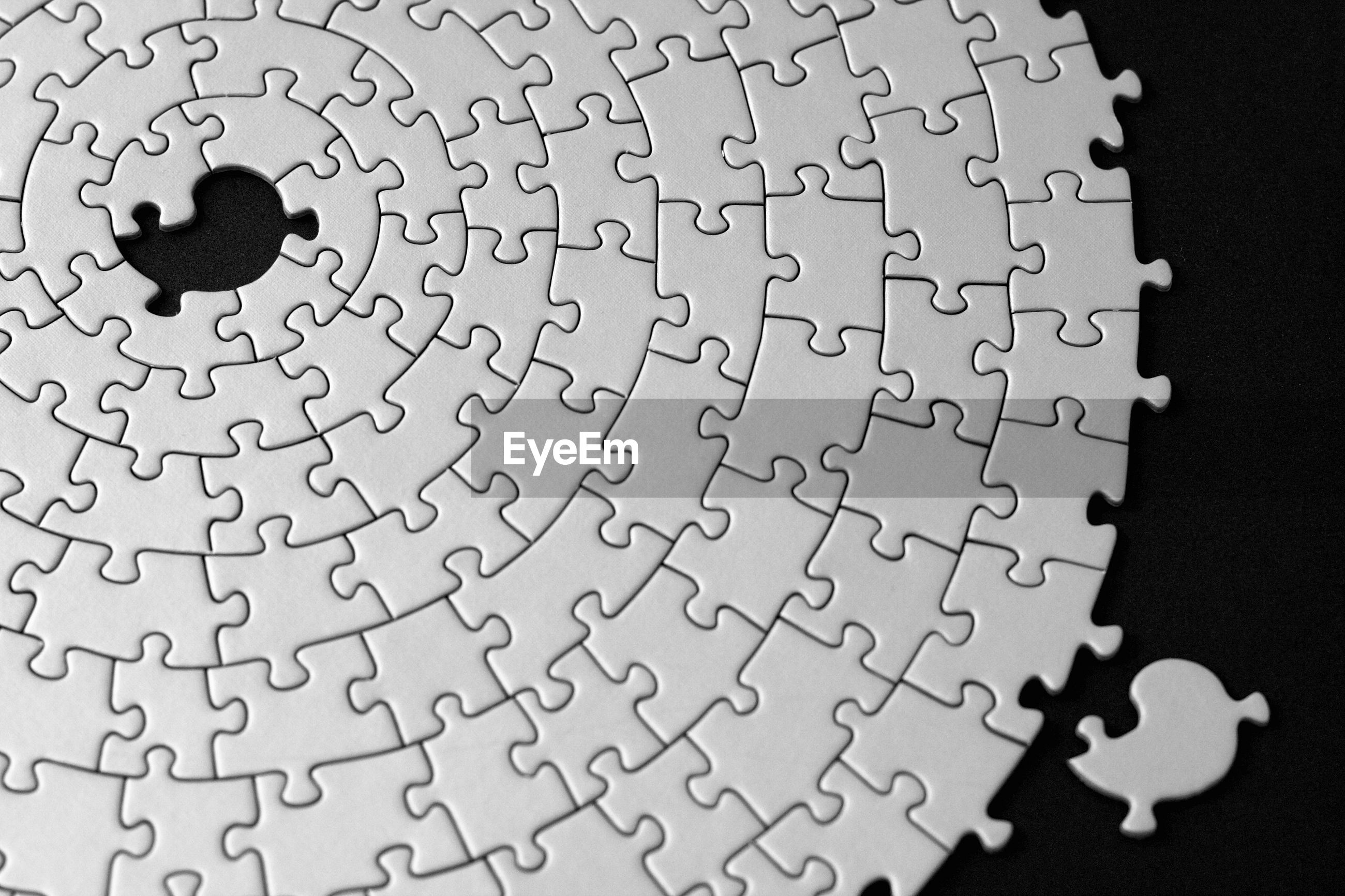 Close-up of jigsaw puzzle