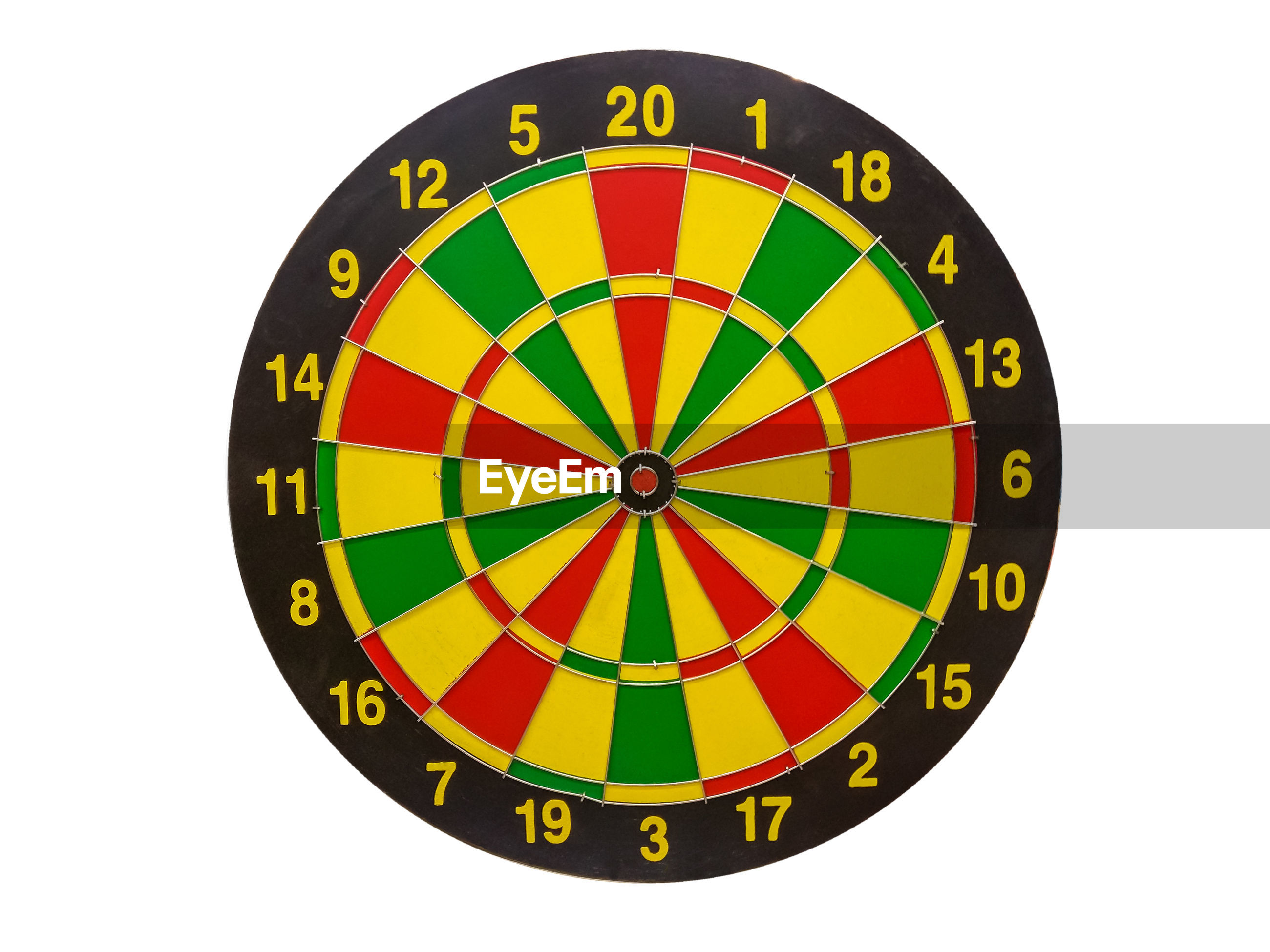 Close-up of dartboard against white background