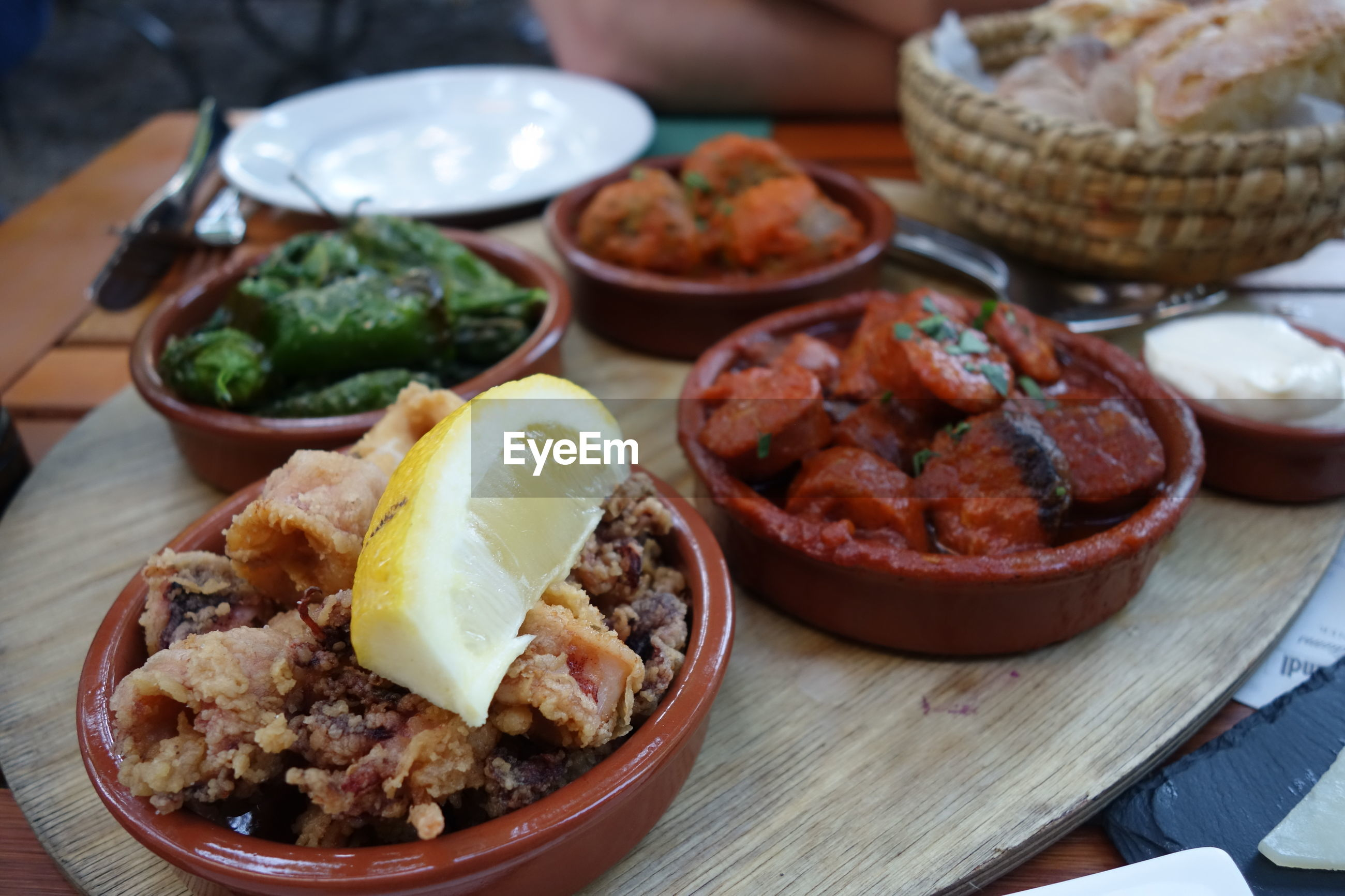 Close-up of tapas on table