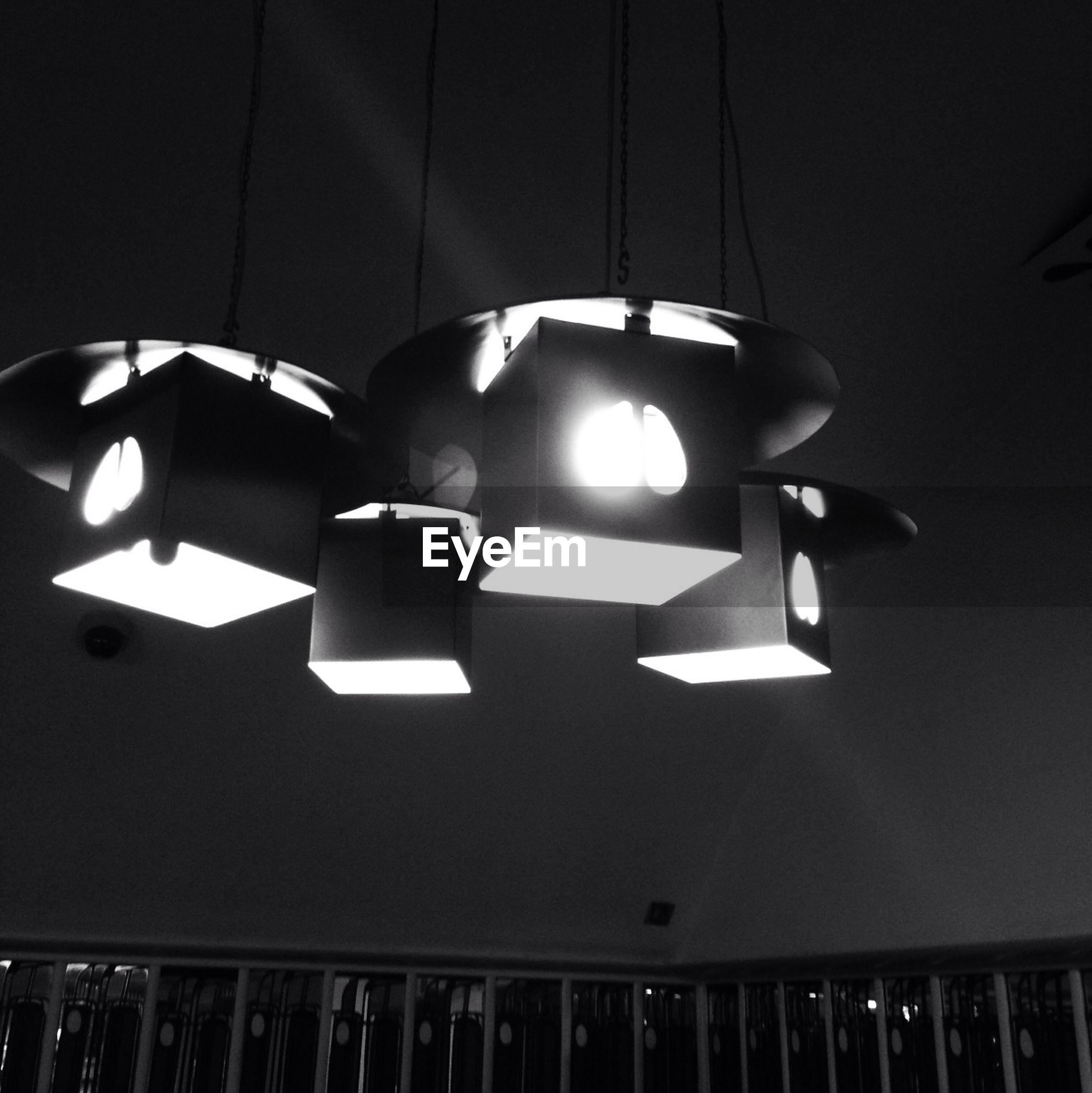 Lighting equipment at nightclub