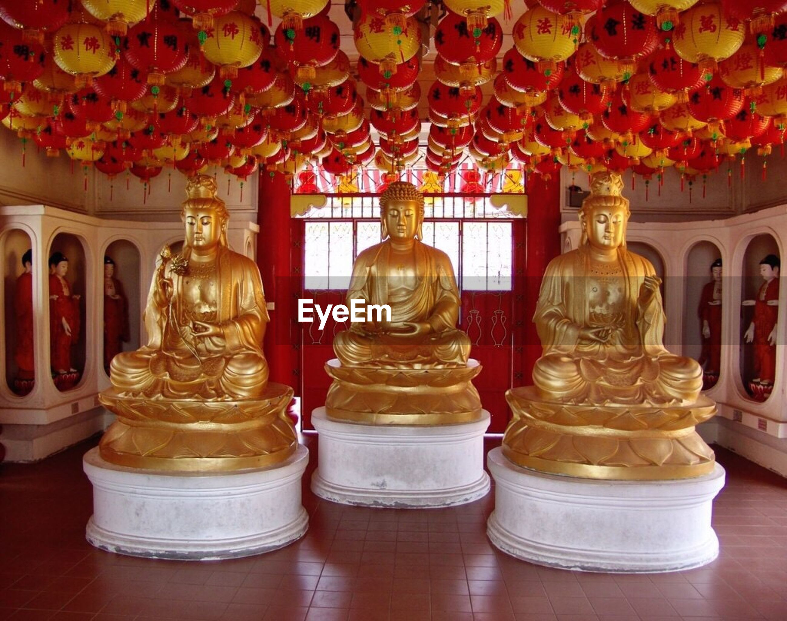 religion, no people, gold colored, indoors, statue, day