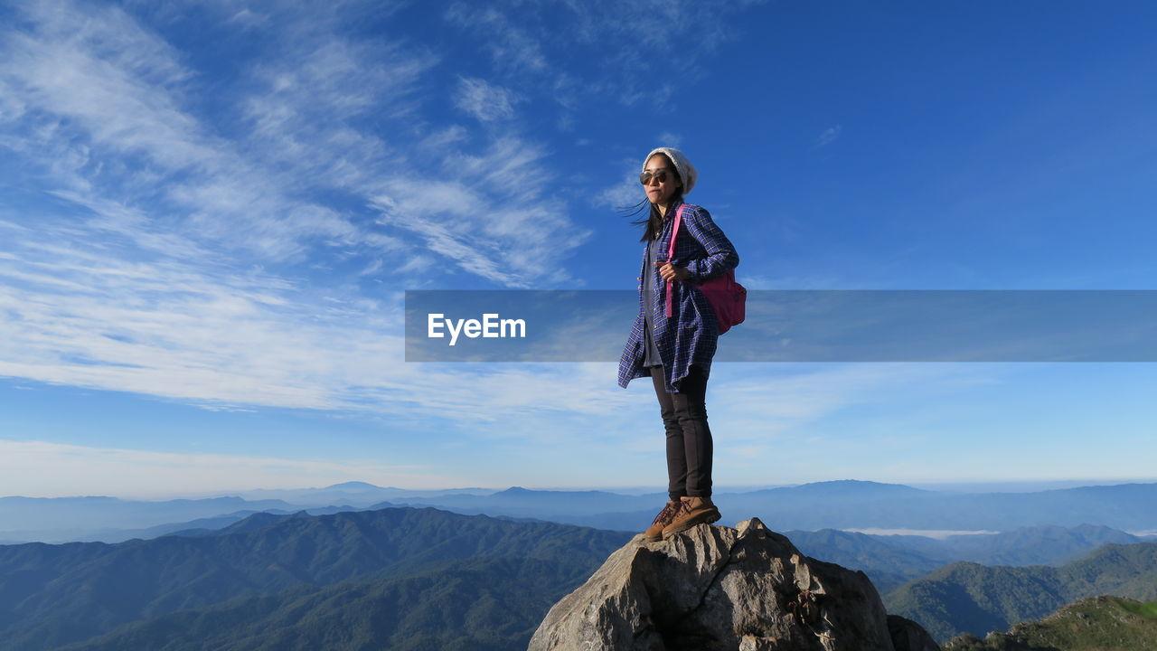 Woman On Mounain Peak