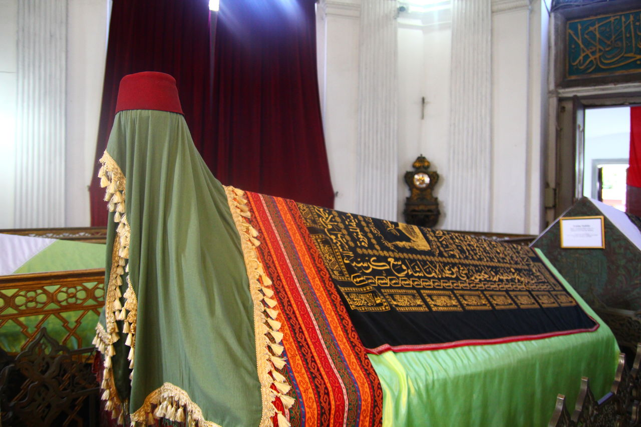 Colorful Shawls On Religious Equipment